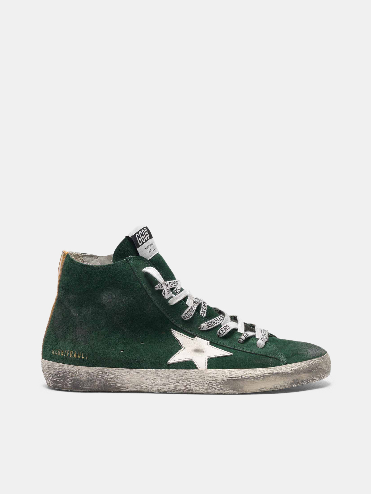 Golden Goose - Francy sneakers in green suede with white star in