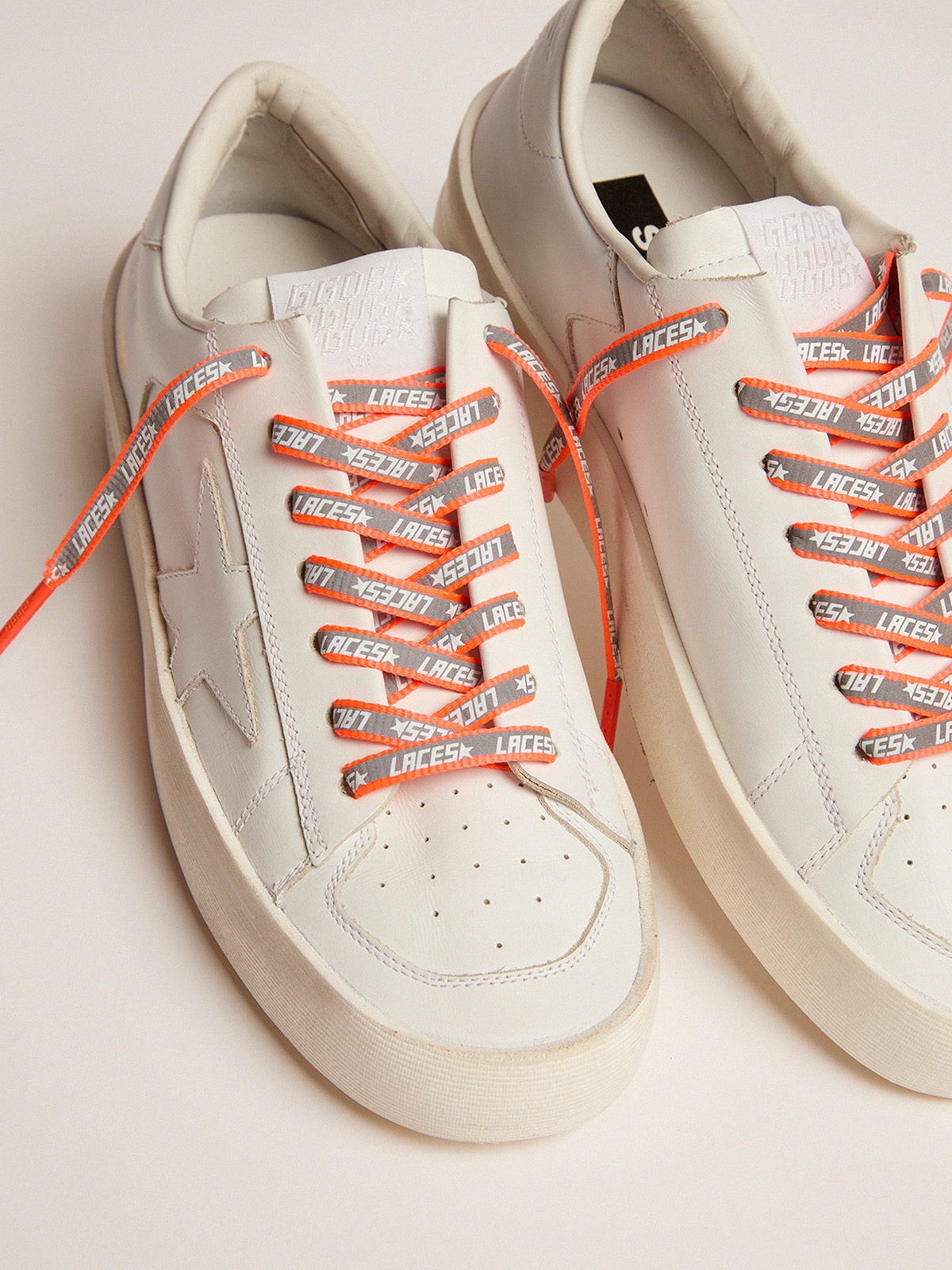 Golden Goose - Women's neon orange reflective laces with laces print in