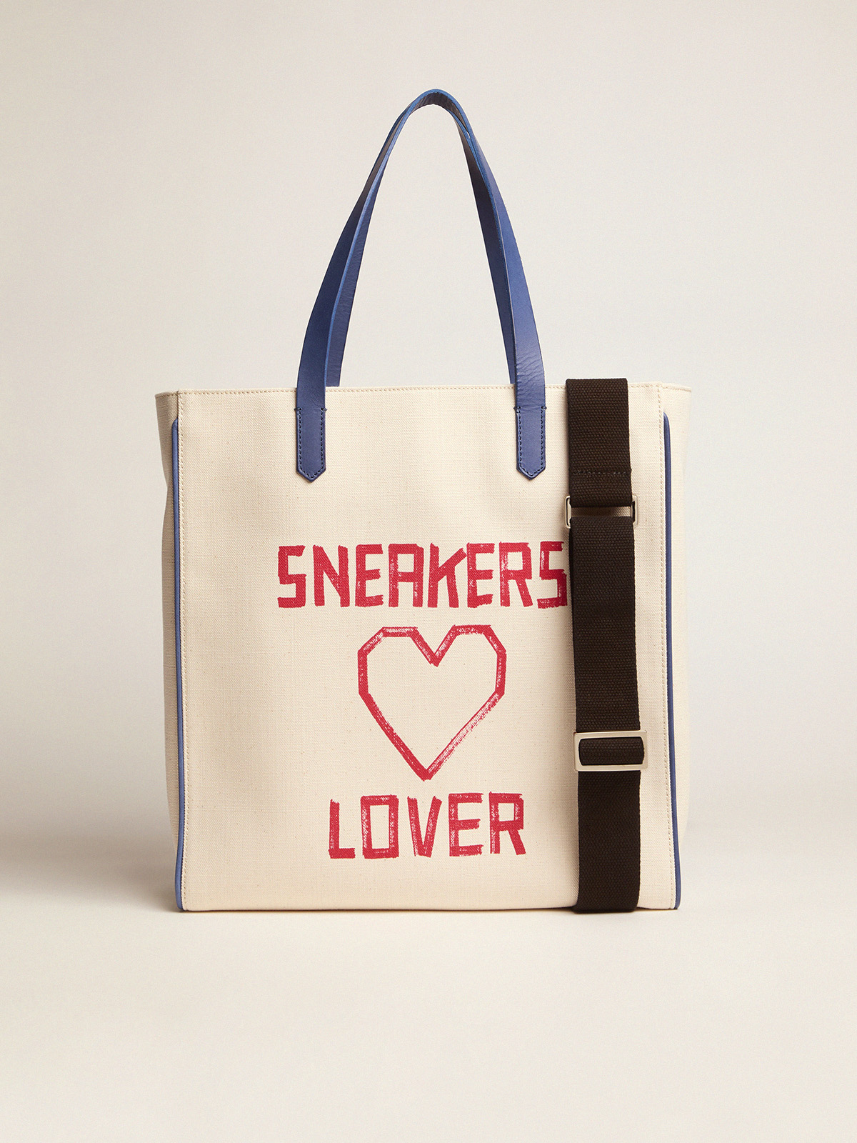 Golden Goose - California North-South bag with red Sneakers Lover print in