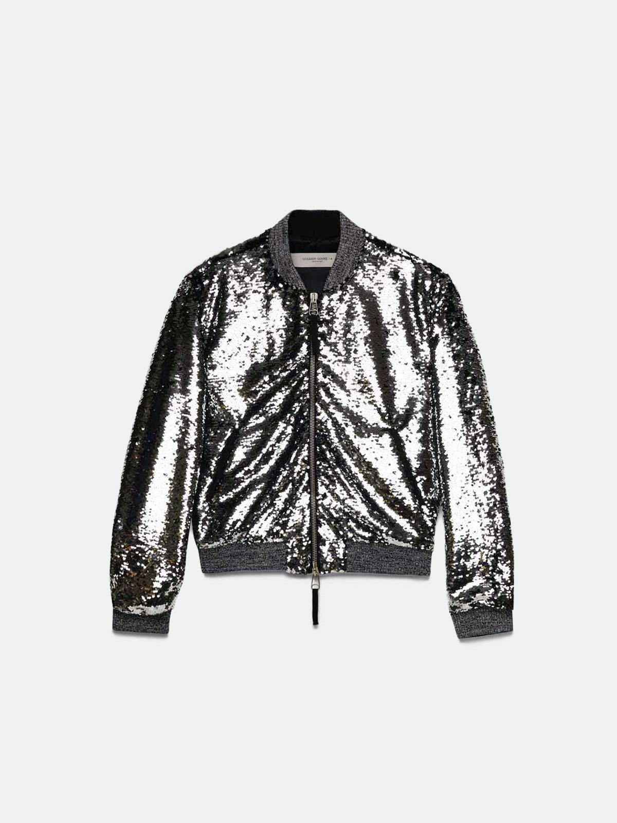 Golden Goose - Scarlett bomber jacket with reversible sequins in