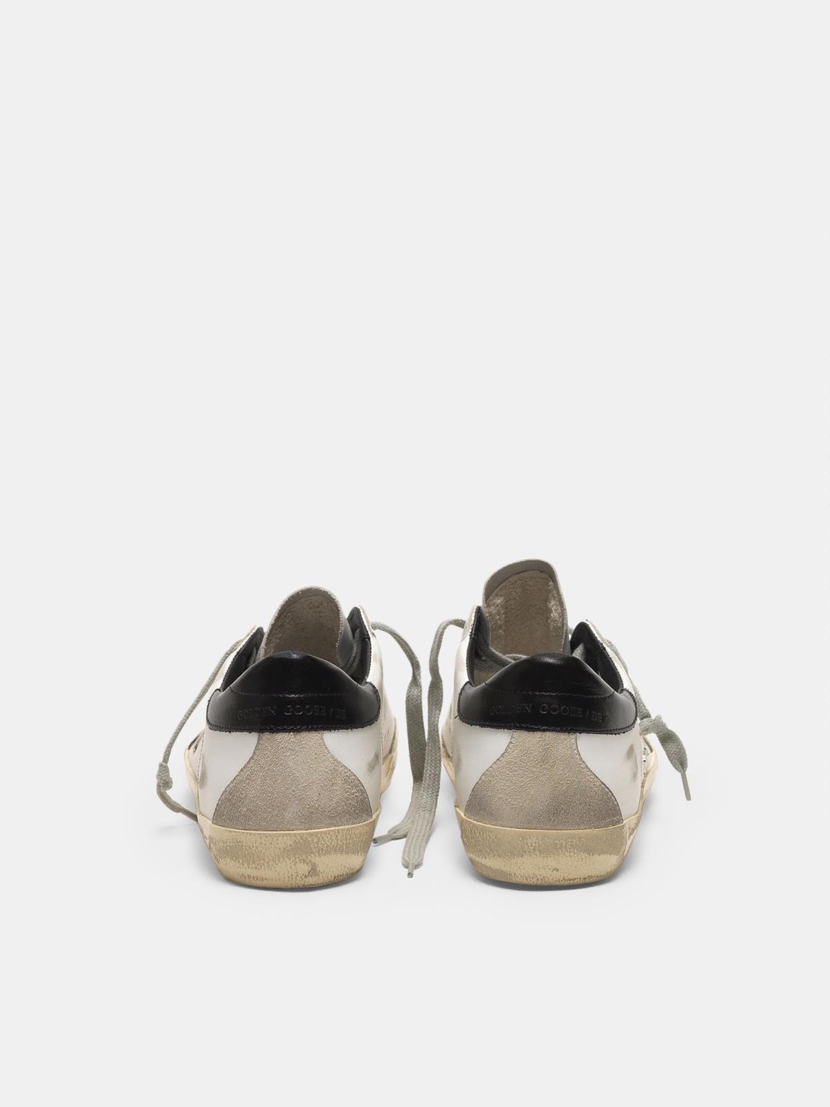Golden Goose - Super-Star sneakers with black heel tab and metal stud lettering in
