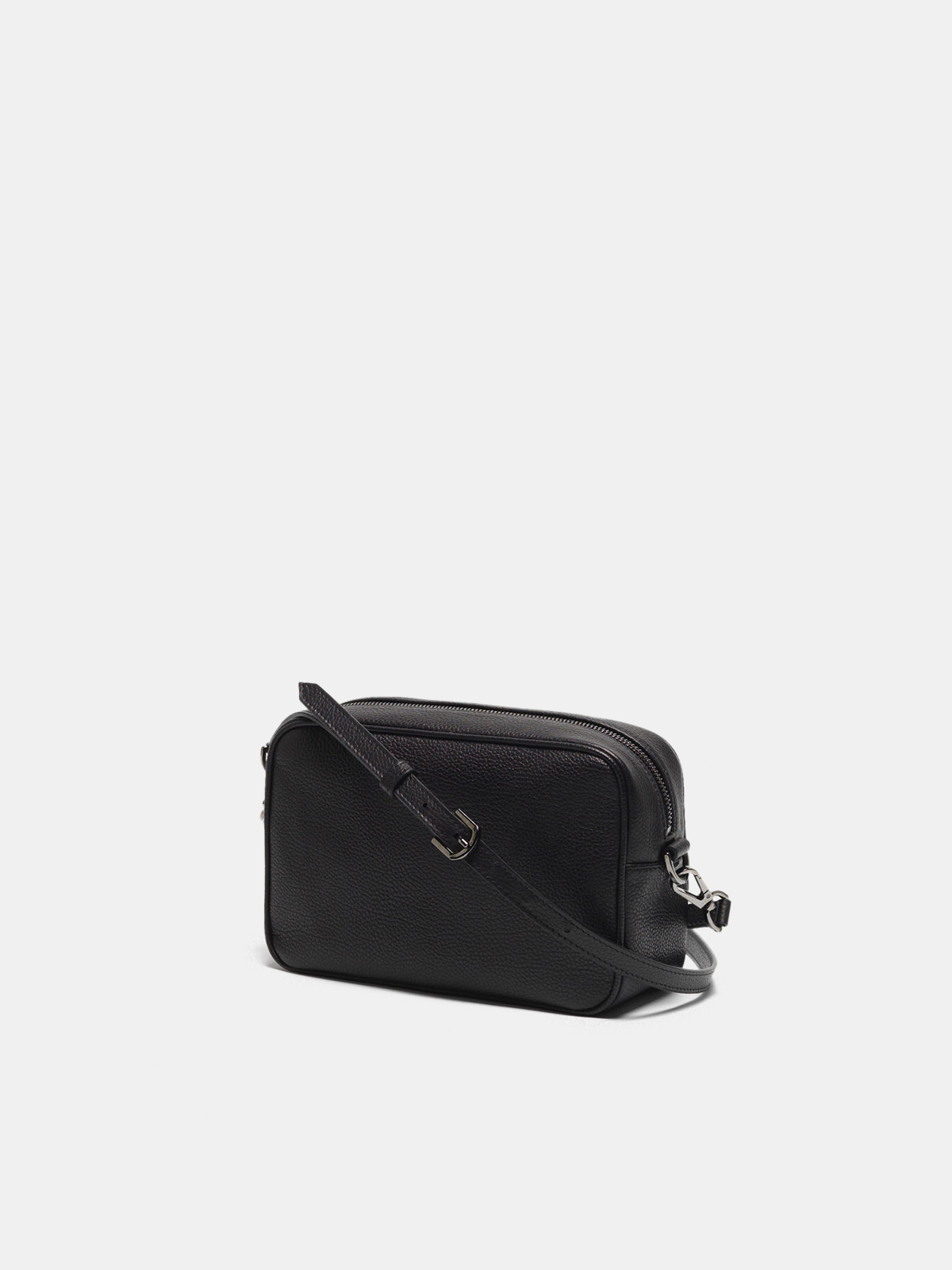 Golden Goose - Star Bag with shoulder strap made of pebbled leather in