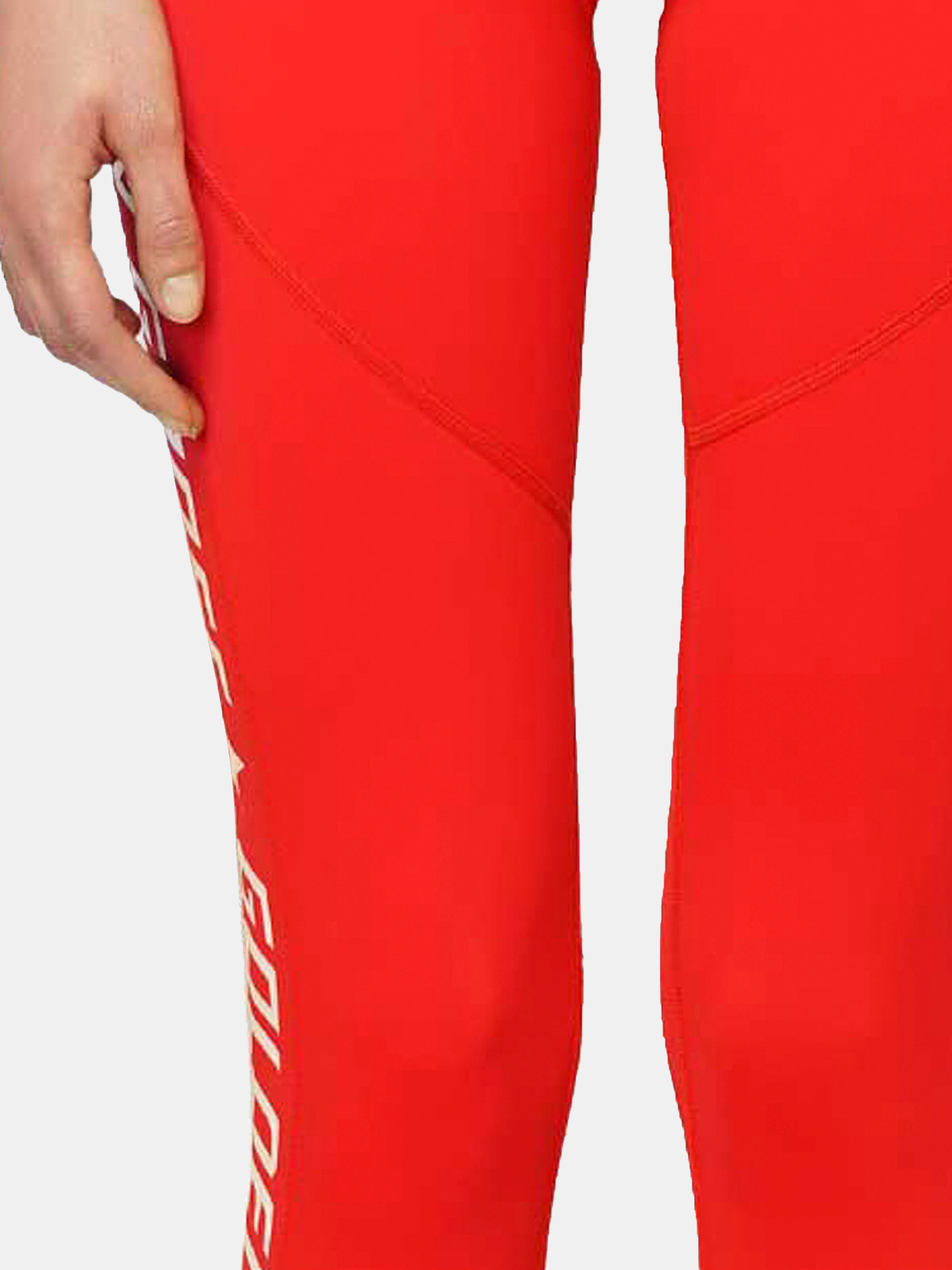 Golden Goose - Red Nori leggings in technical fabric with contrasting logo in