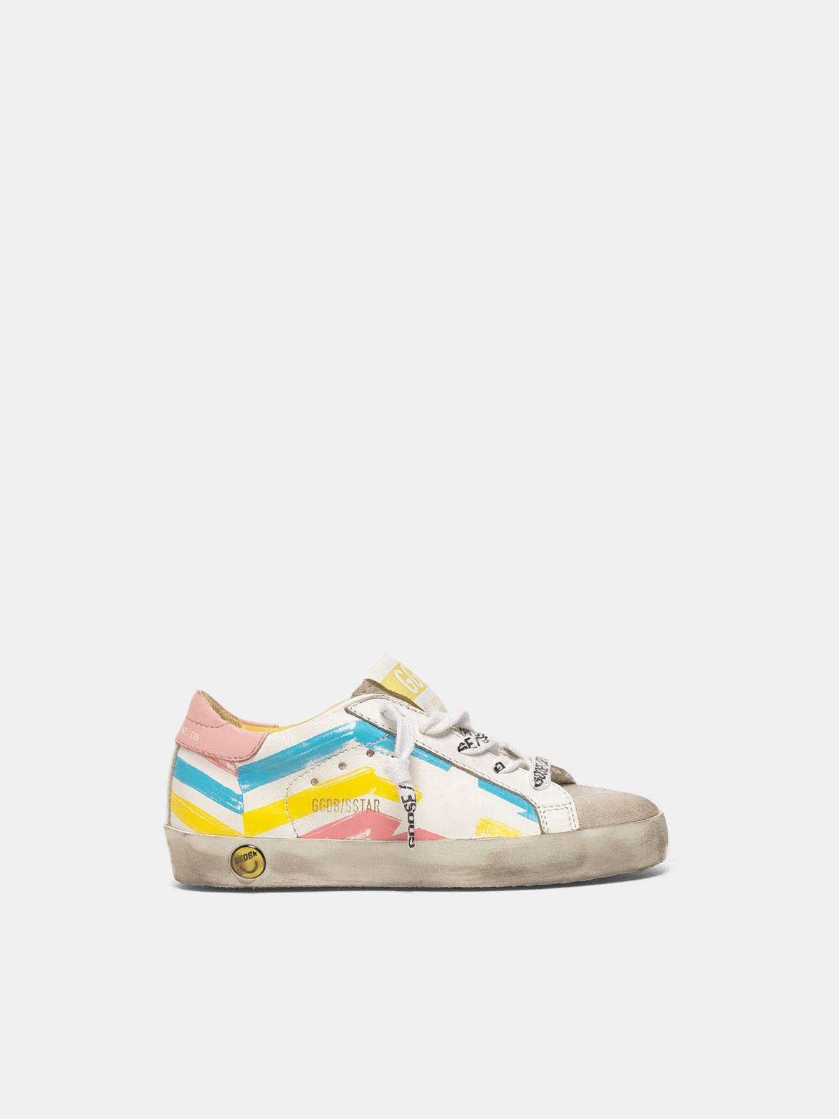 Golden Goose - Super-Star sneakers with multicolour flag print in