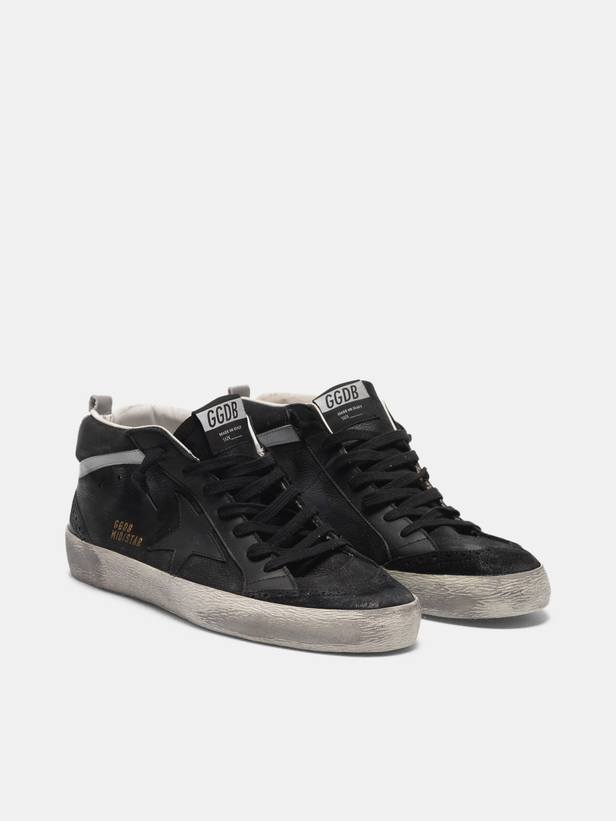 Golden Goose - Mid Star sneakers in leather with nubuck inserts  in