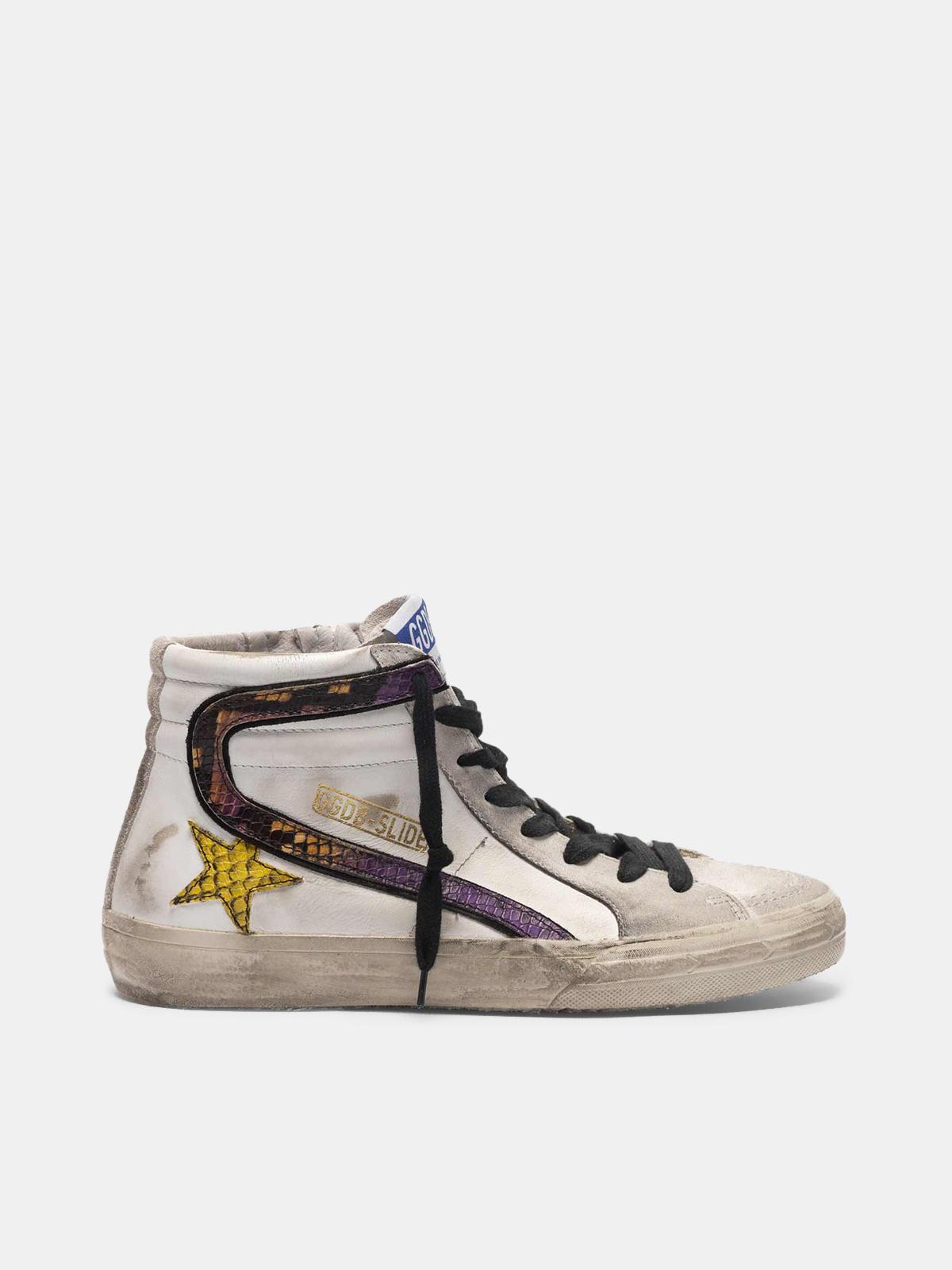 Golden Goose - Slide sneakers with snake-print logo in