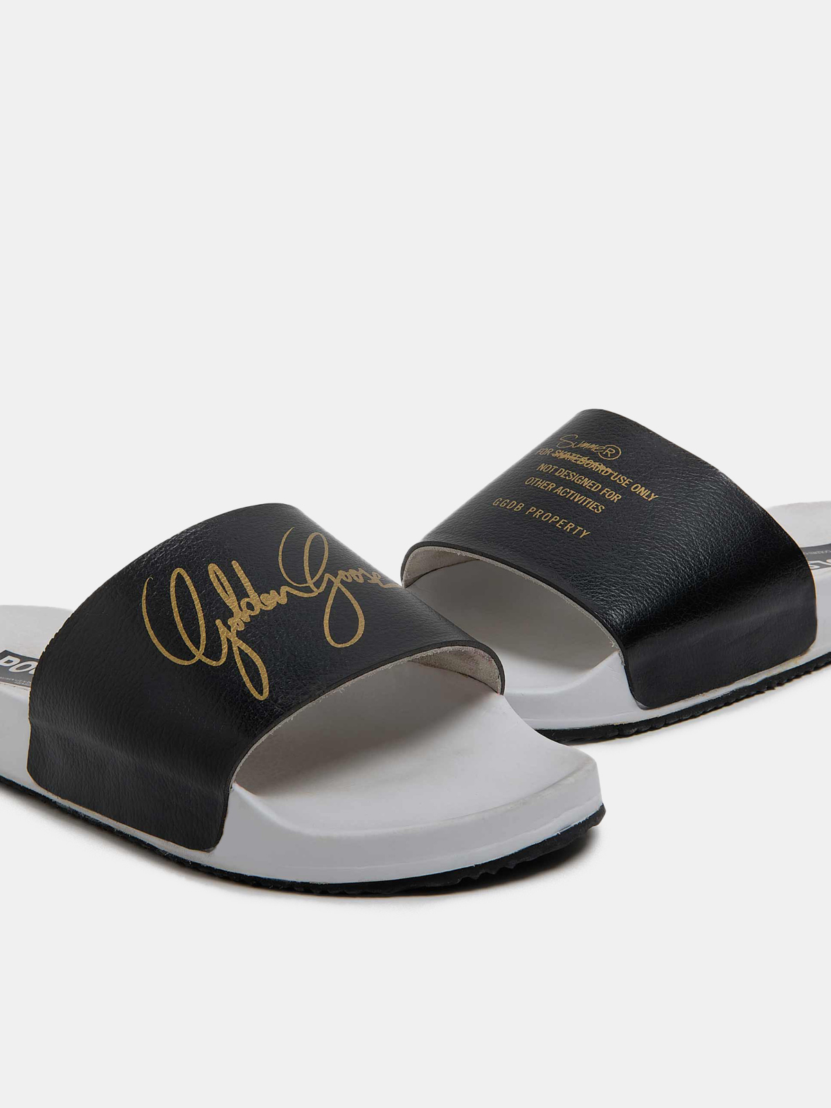 Golden Goose - Men's Poolstars with black strap and gold logo in
