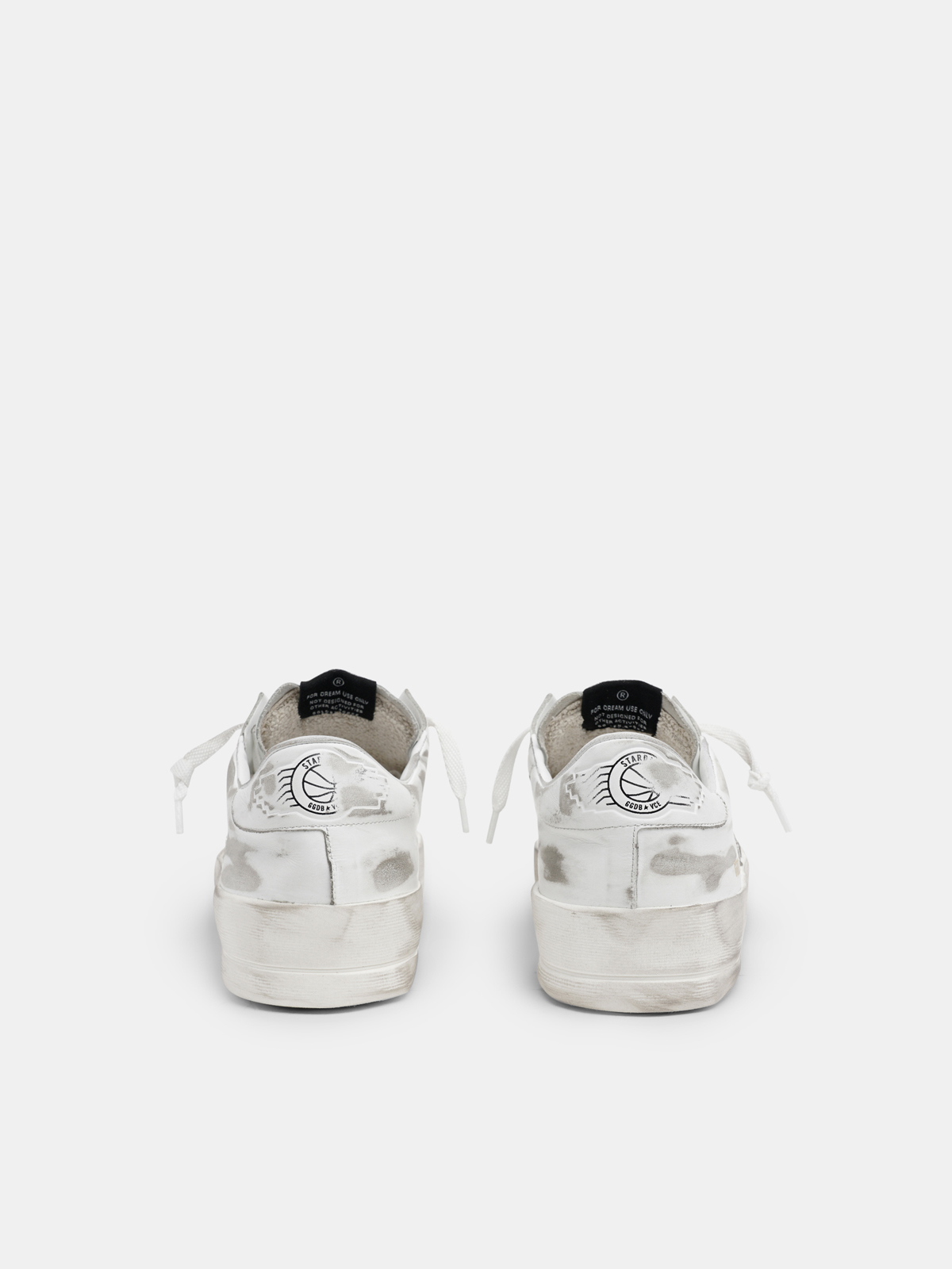 Golden Goose - Sneakers Stardan bianche in pelle trattamento lived-in in