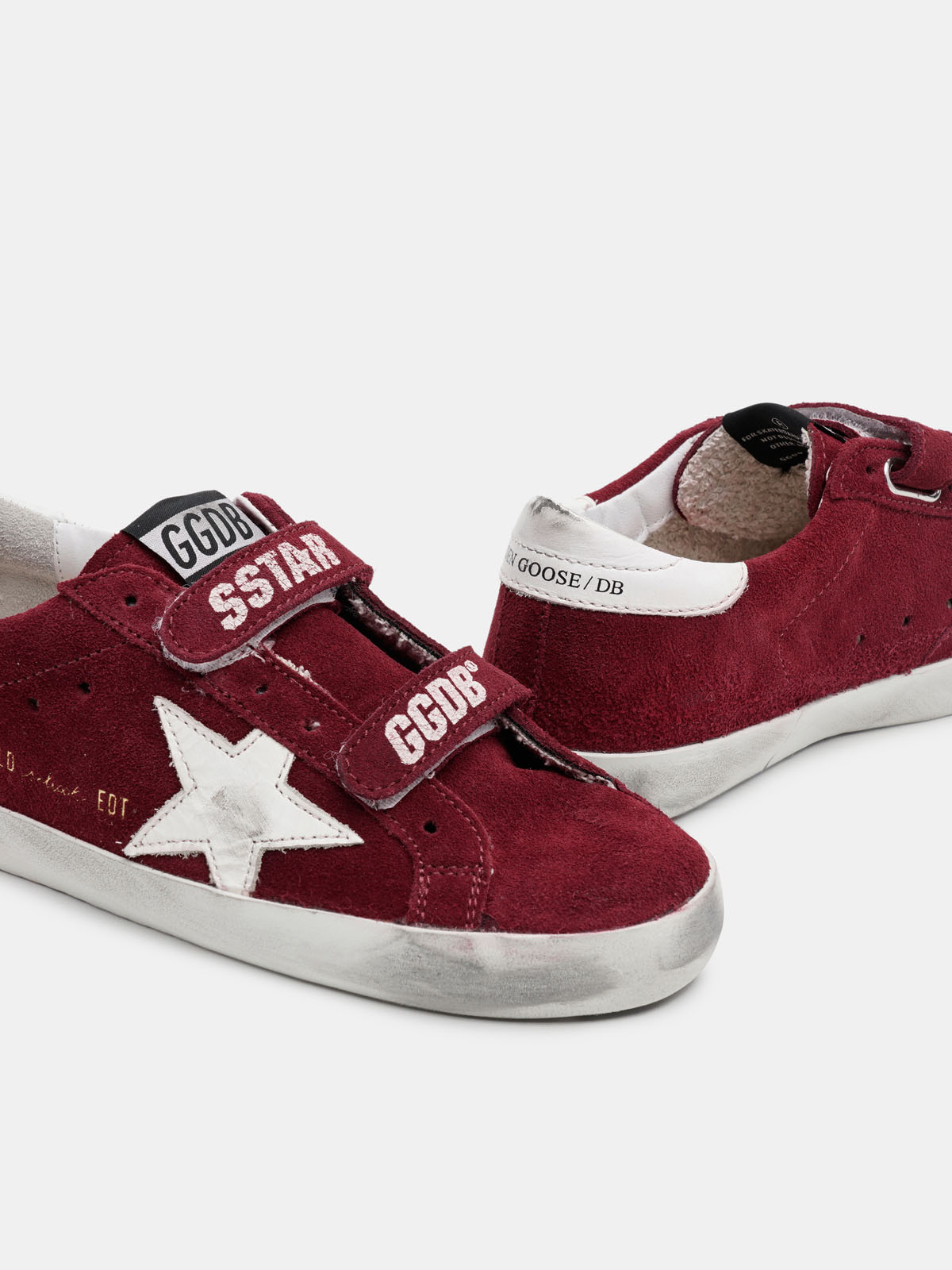 Golden Goose - Old School sneakers in suede with white star in