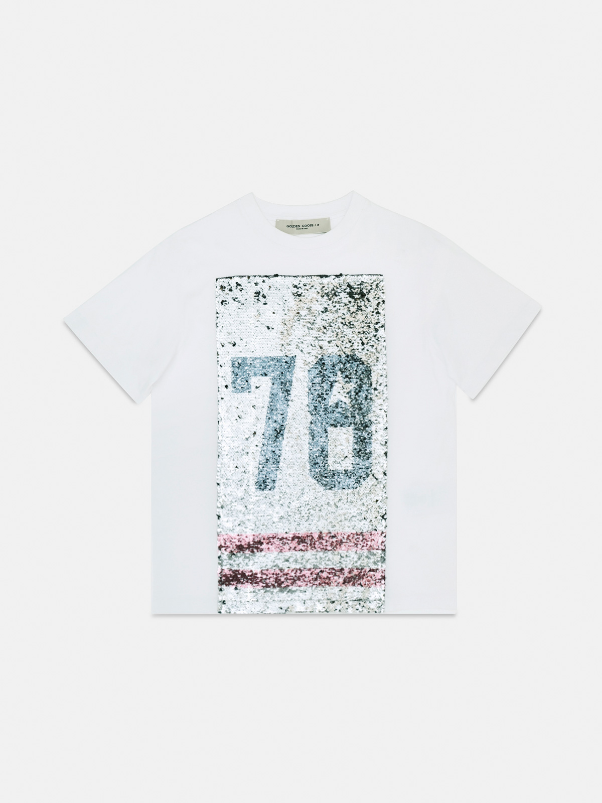 Golden Goose - Emily regular-fit T-shirt with sequins on the front and 78 print in
