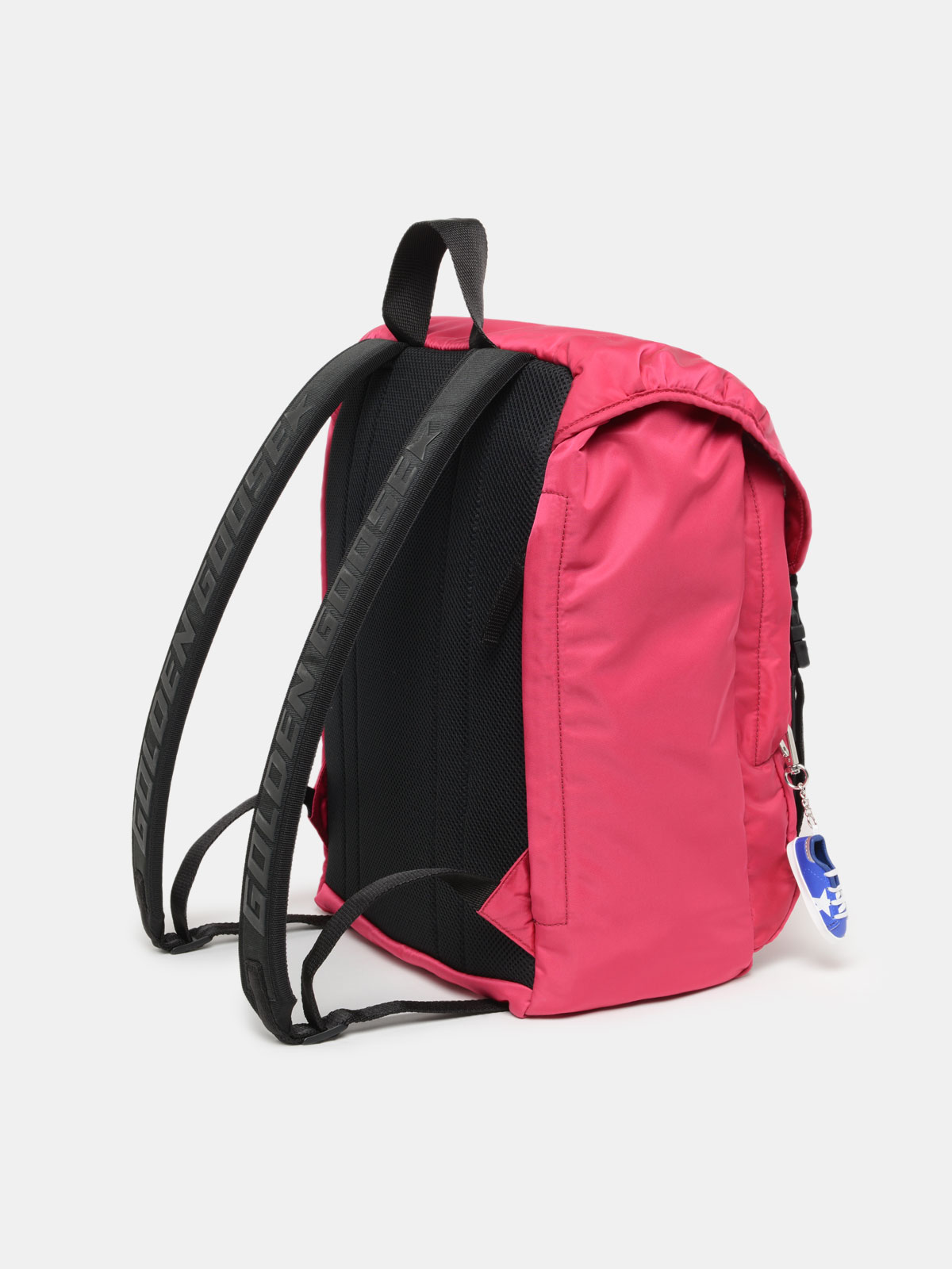 Golden Goose - Fuchsia nylon Journey backpack in