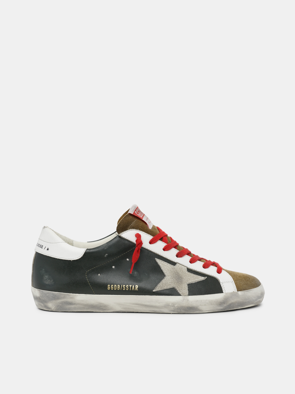 Golden Goose - Super-Star sneakers in black leather with suede insert in