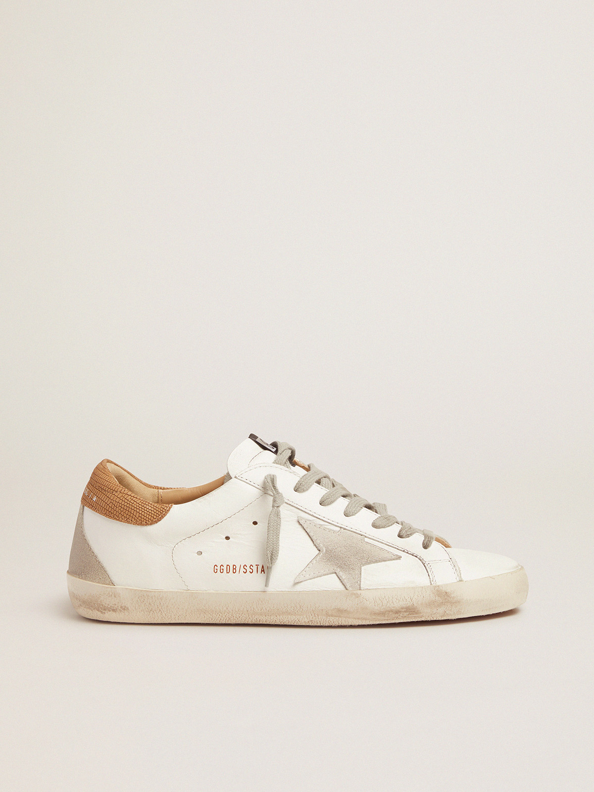 Golden Goose - Men's Super-Star sneakers with lizard-print heel tab in