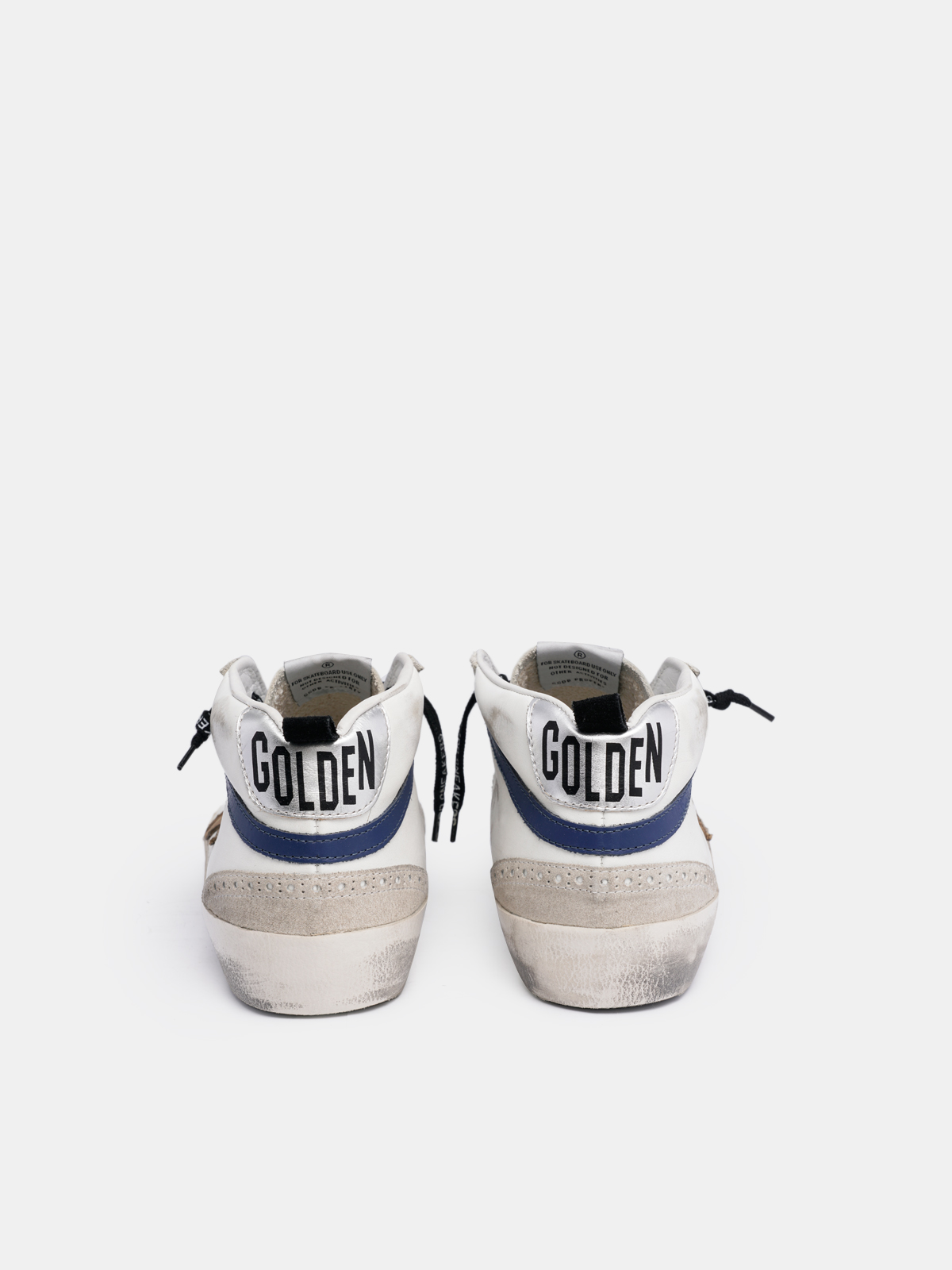 Golden Goose - White Mid Star sneakers with beige star in