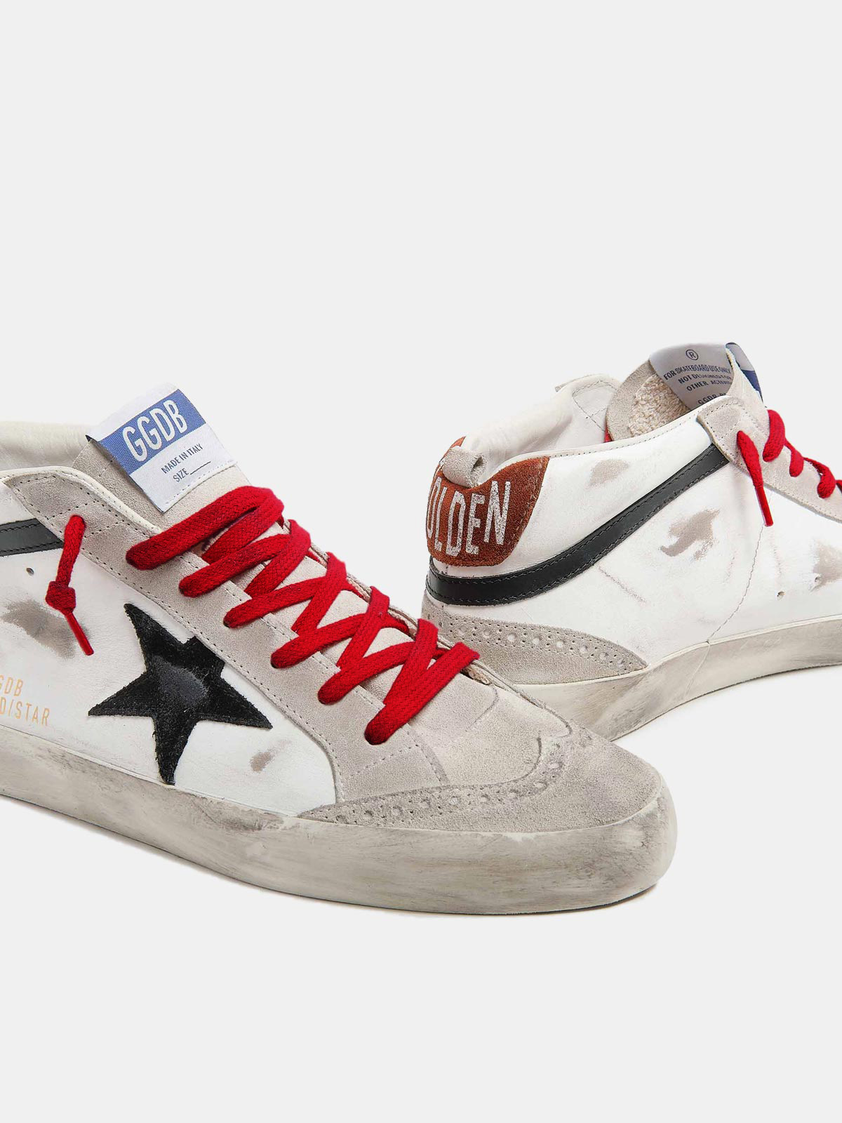 Golden Goose - Mid Star sneakers in leather with suede star in