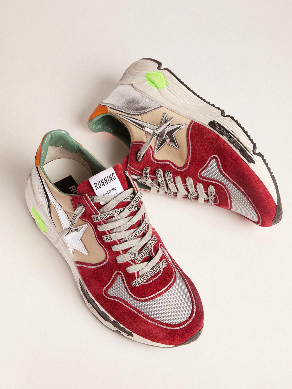 Golden Goose - Running Sole sneakers with 3D star and orange heel tab in