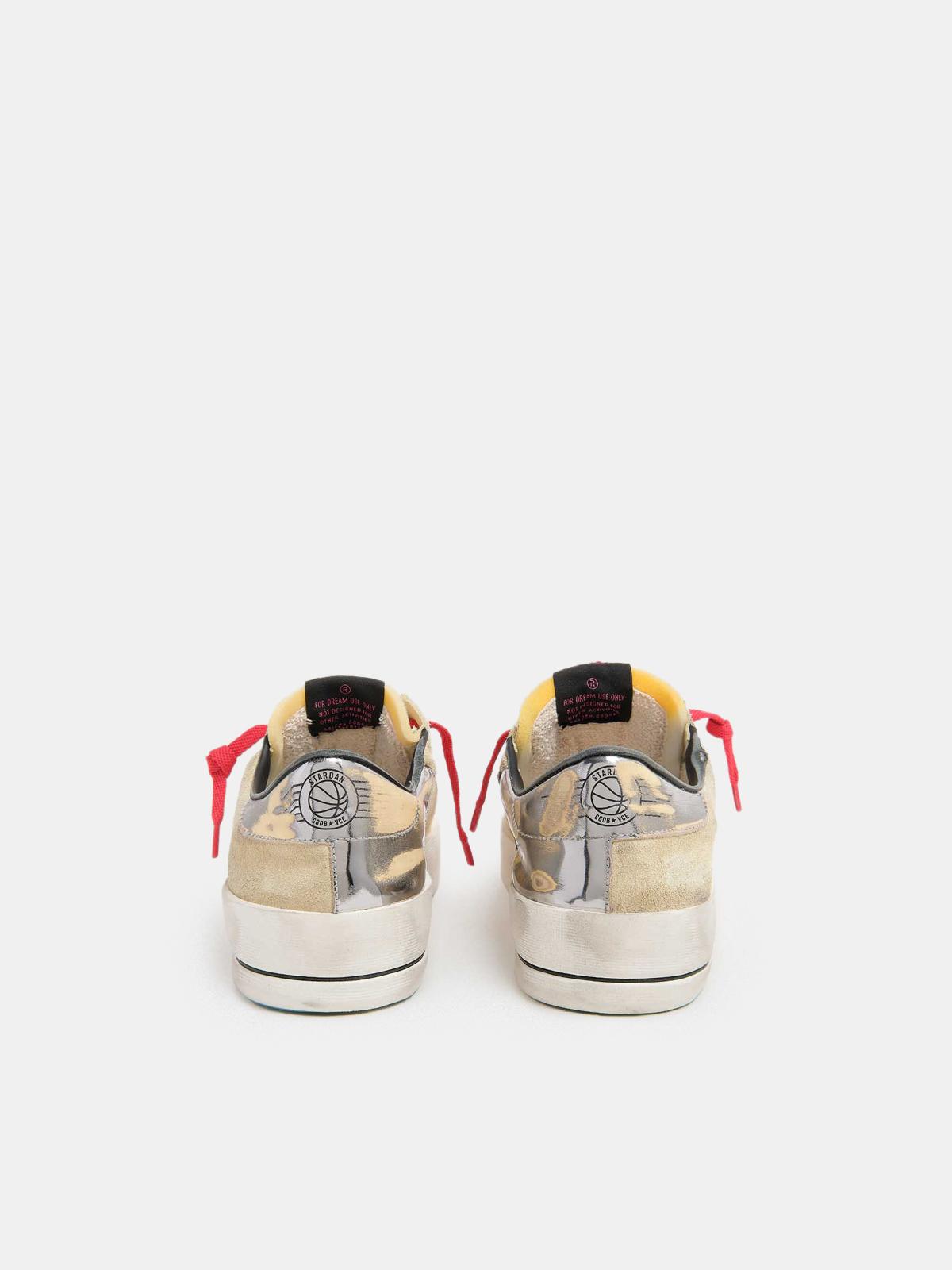 Golden Goose - Stardan sneakers in suede with metallic heel tab in