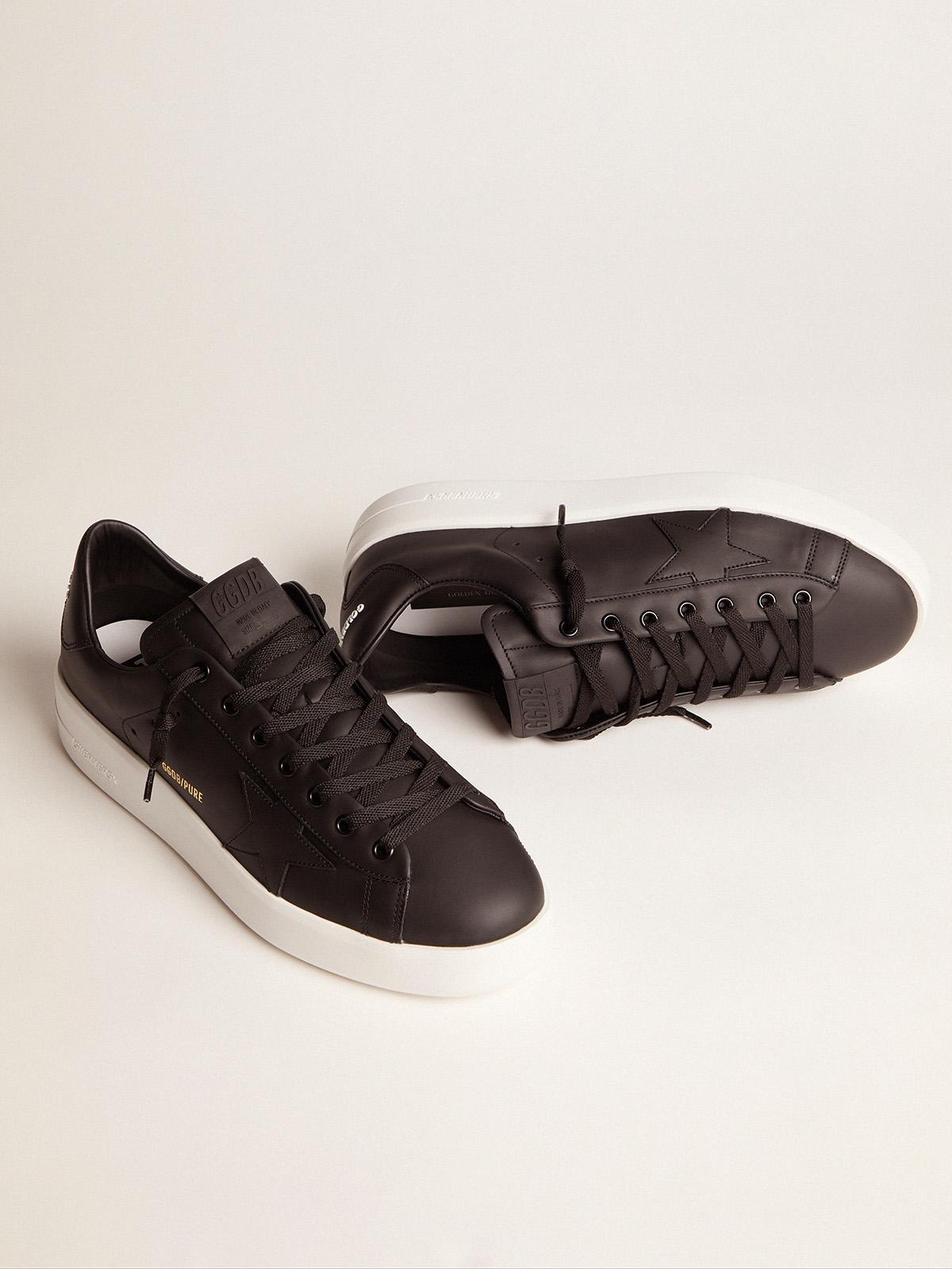 Golden Goose - Black leather PURESTAR sneakers in