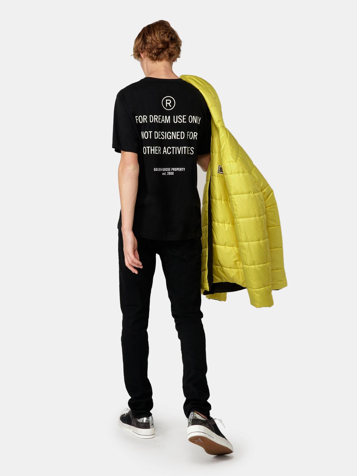 Golden Goose - Aris yellow and black reversible down jacket in