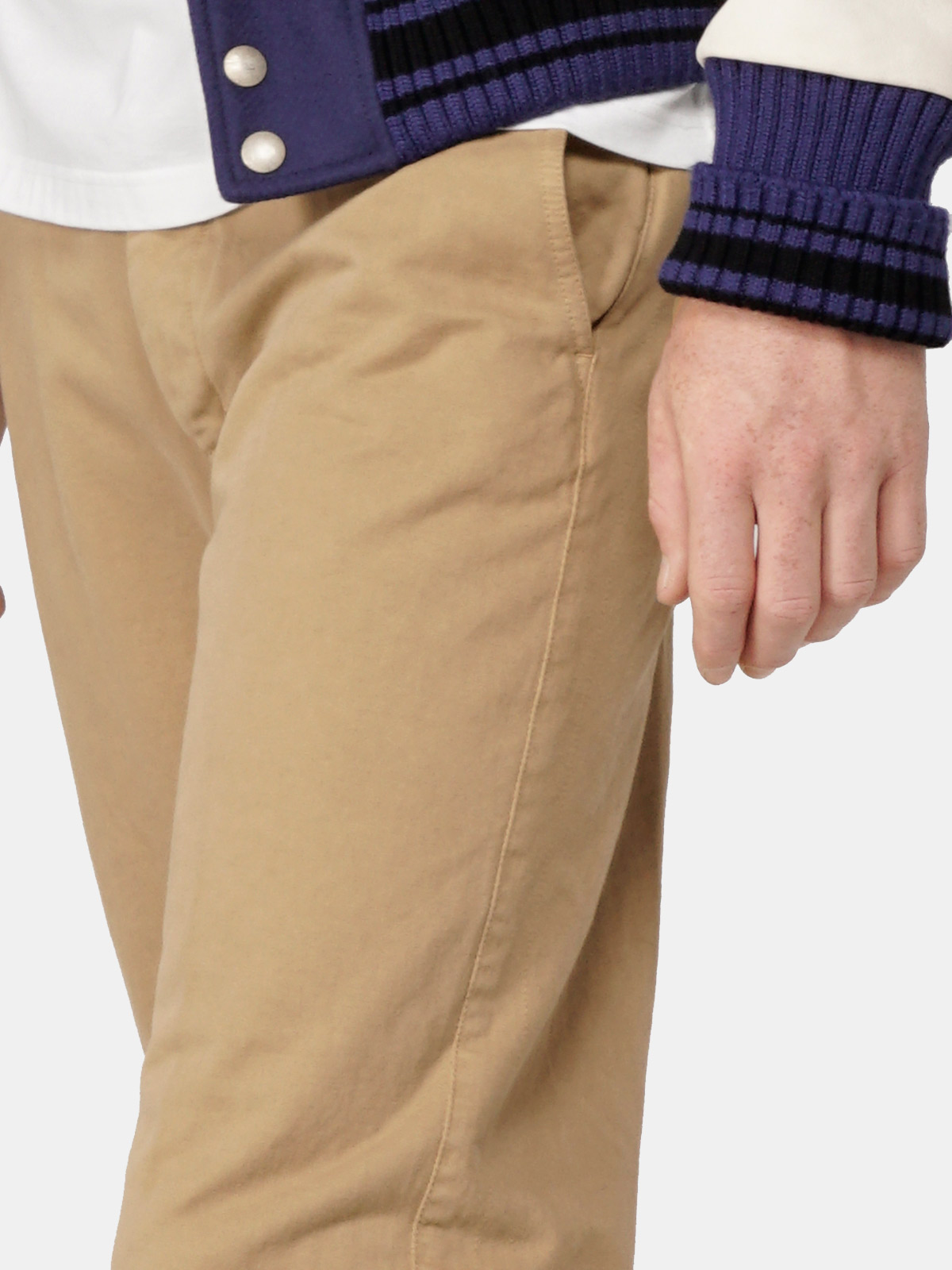 Golden Goose - Amos chinos in cotton canvas in