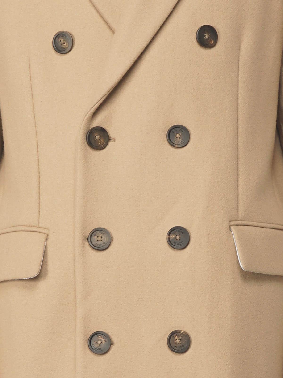 Golden Goose - Aiace coat in crumple-effect wool   in