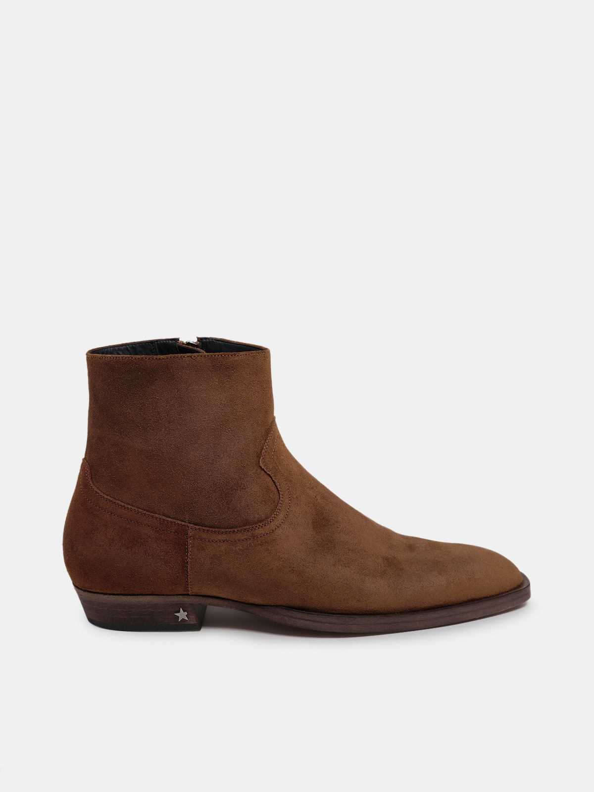 Golden Goose - Rock Jimi ankle boots in brown suede leather in