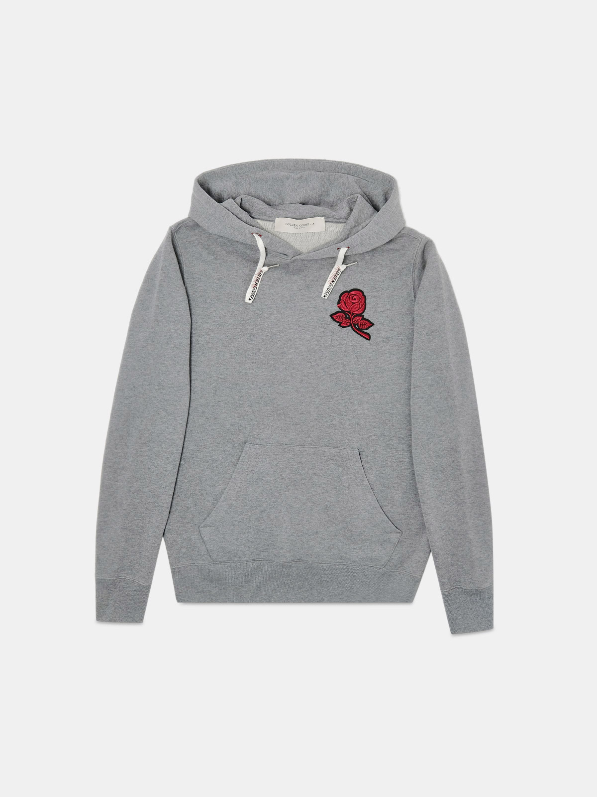 Golden Goose - Alighiero sweatshirt with rose patch on the front in