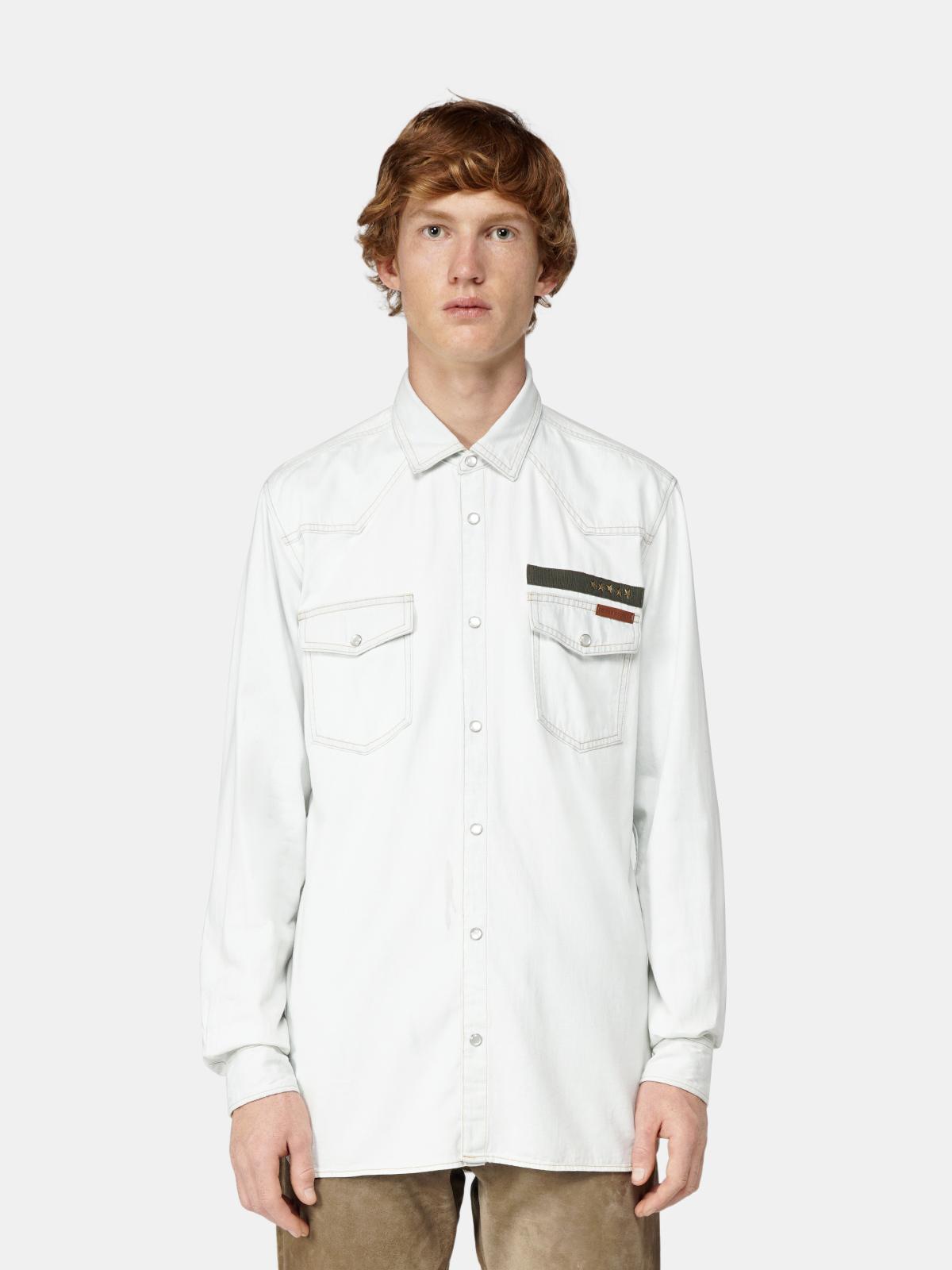 Golden Goose - Axel shirt in pale denim in