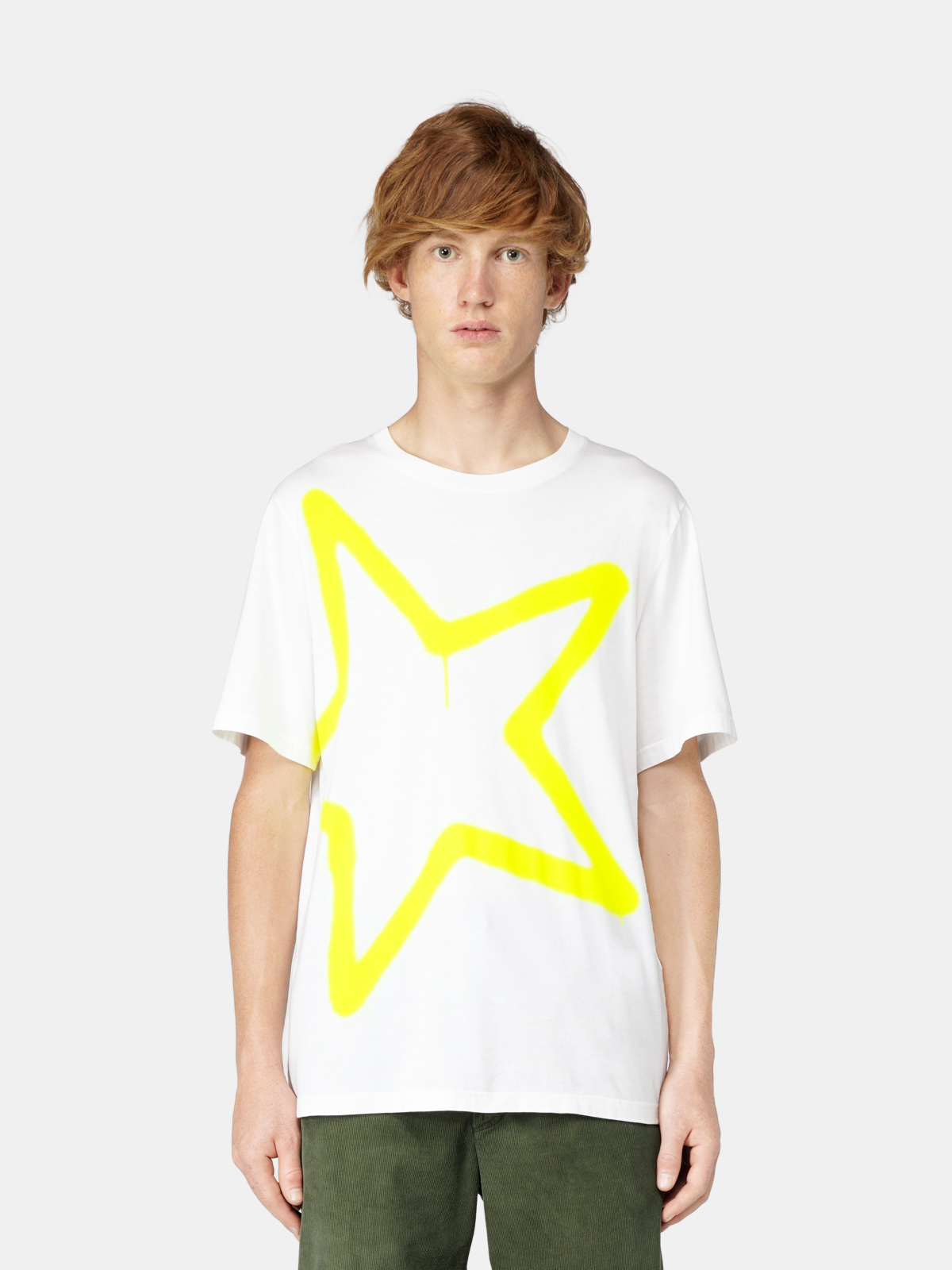 Golden Goose - T-shirt Adamo con stampa maxi stella in