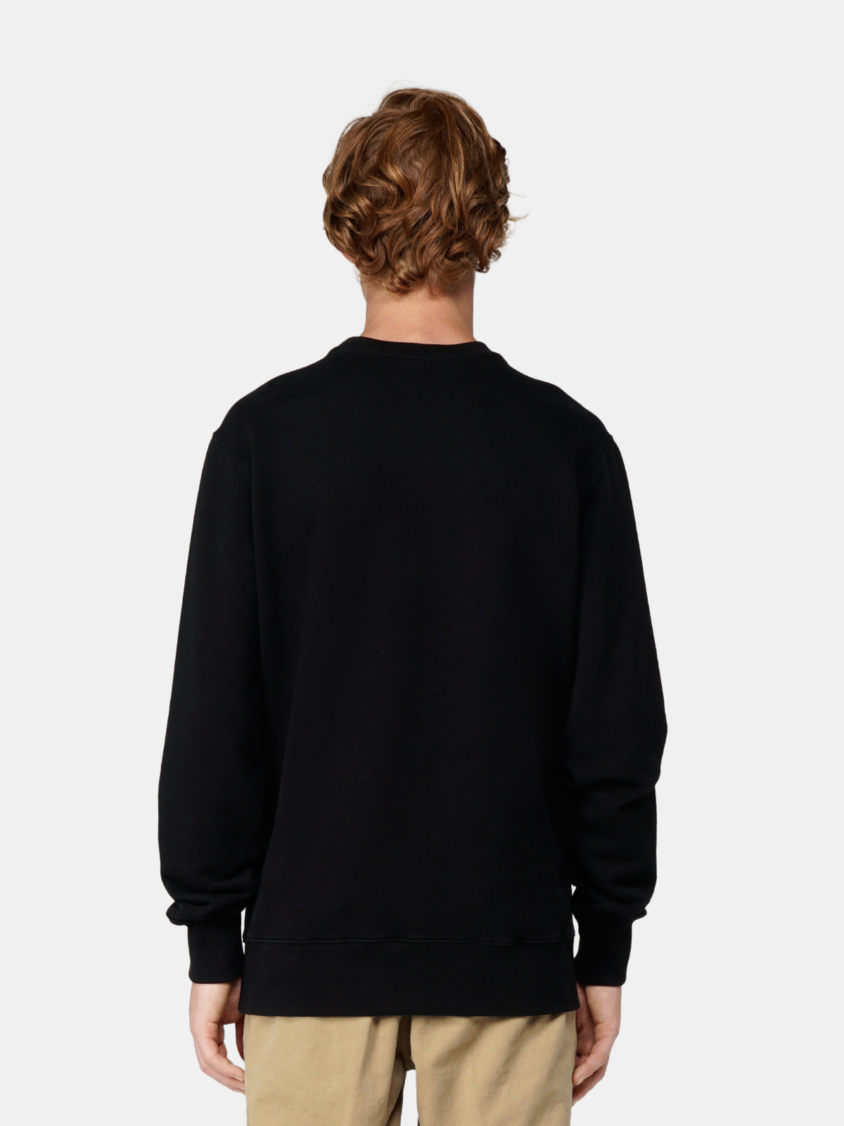 Golden Goose - Black Archibald sweatshirt with flag print on the front in