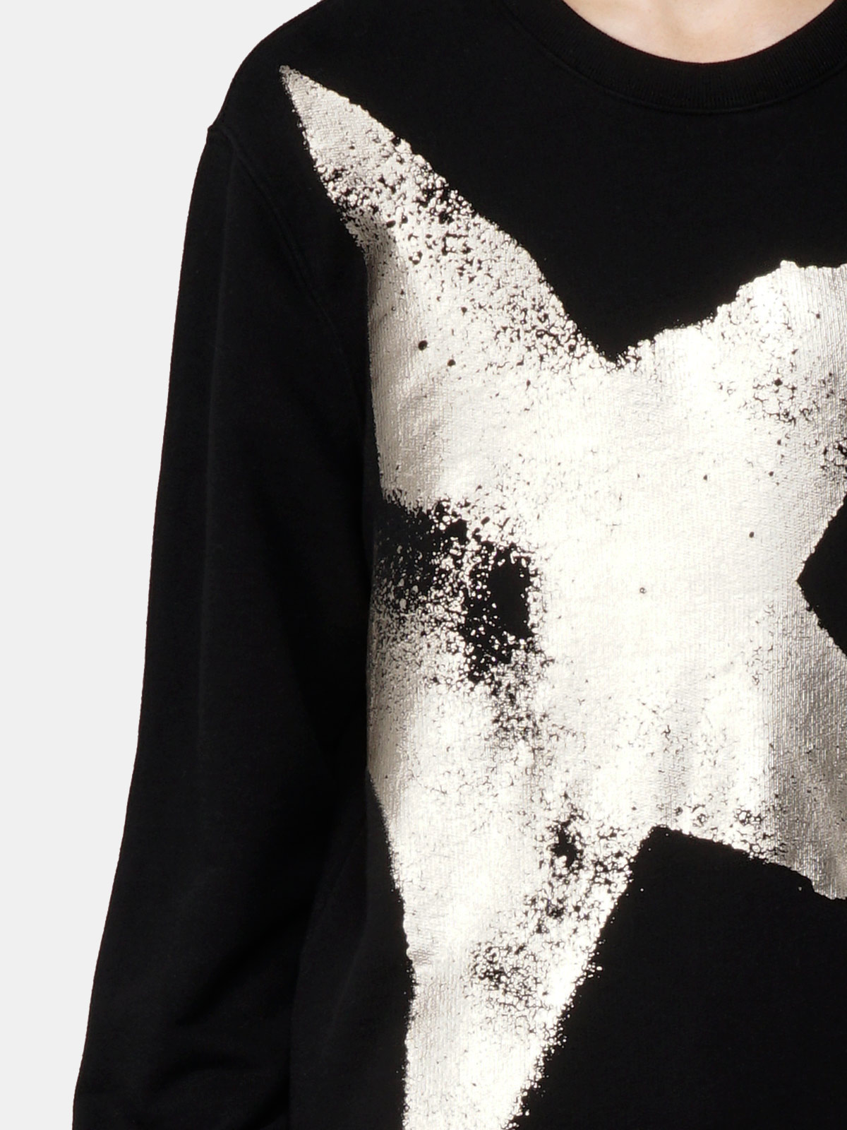 Golden Goose - Archibald sweatshirt with gold star print   in
