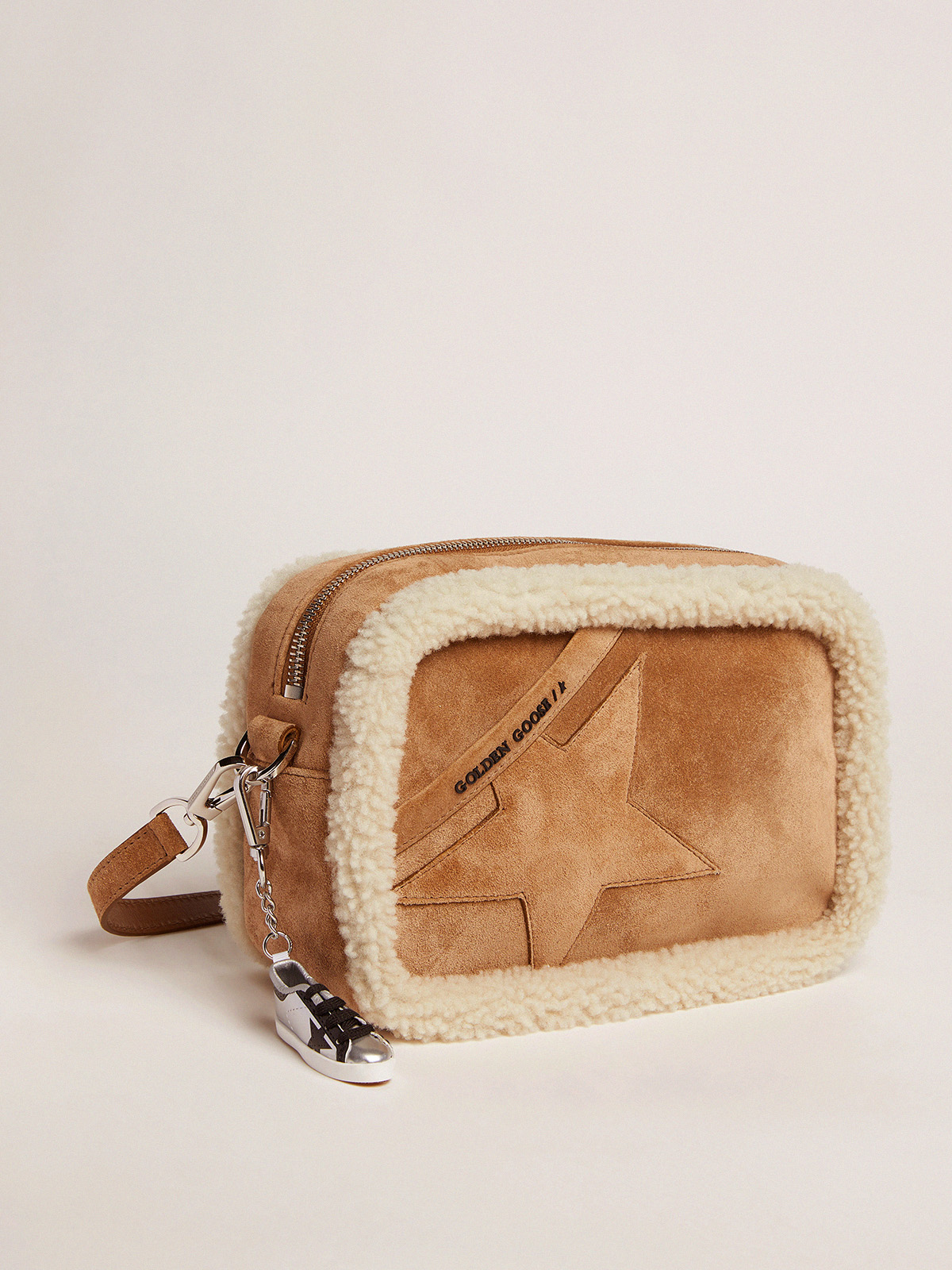 Golden Goose - Star Bag made of suede leather with shearling edging in