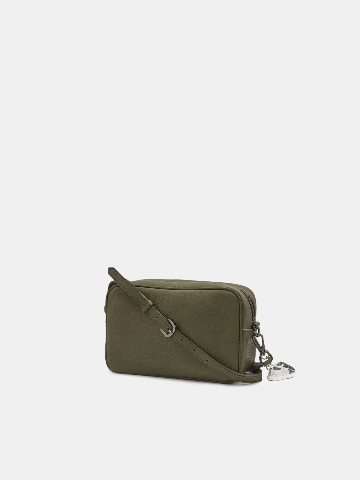 Golden Goose - Army green Star Bag made of hammered leather in