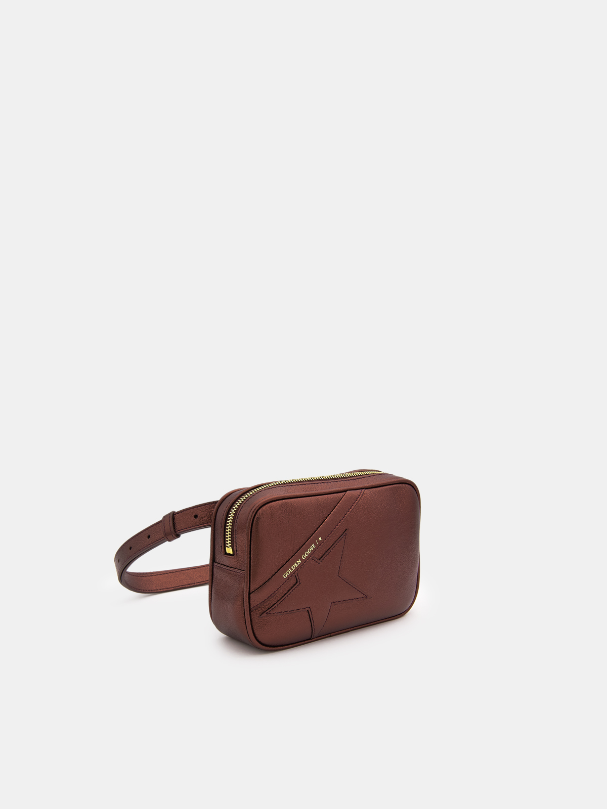 Golden Goose - Star Belt Bag made of red laminated leather in