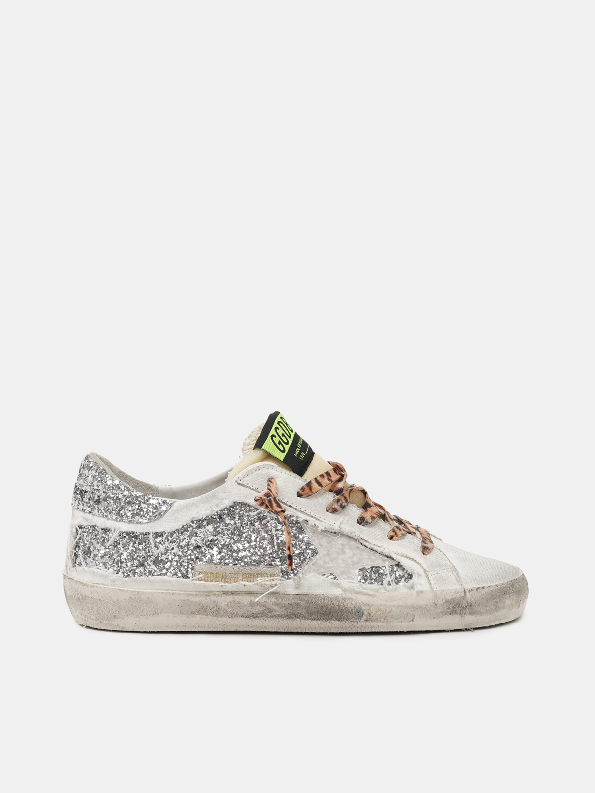 Golden Goose - Women's Limited Edition LAB Super-Star sneakers with glitter and leopard-print laces in