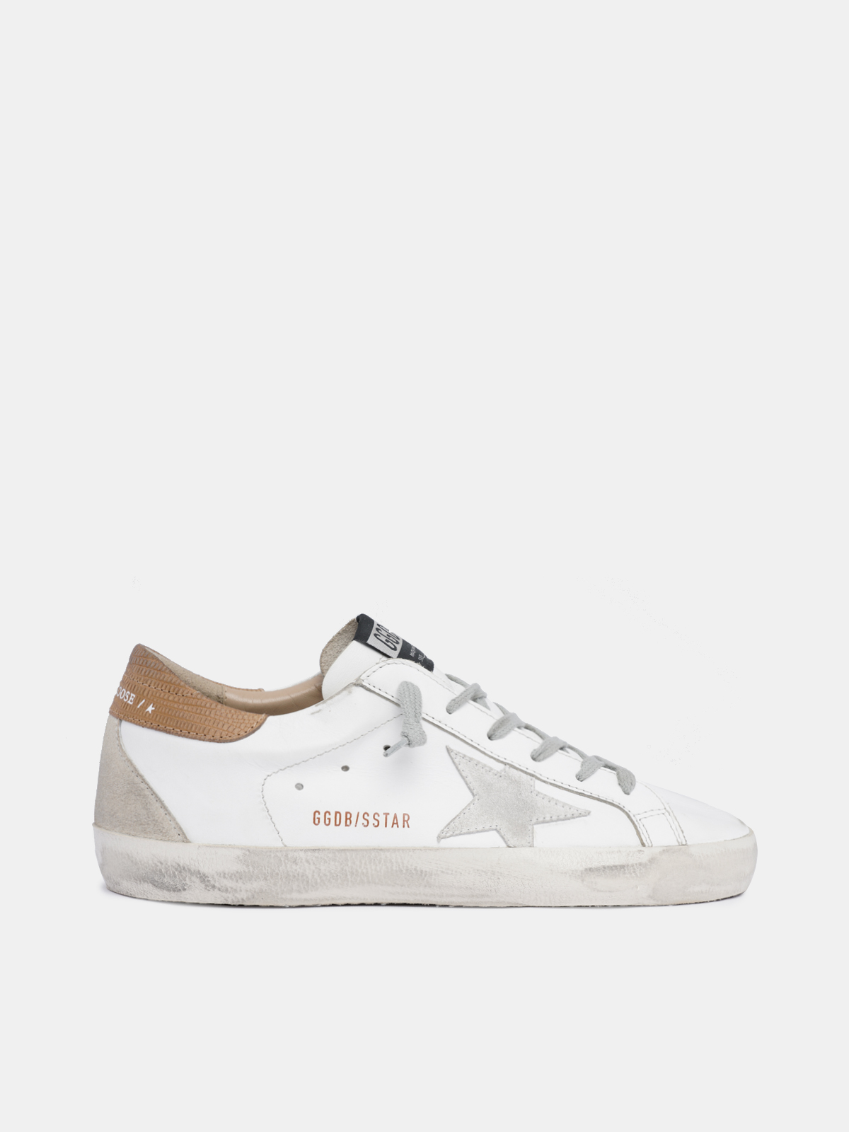 Golden Goose - Women's Super-Star sneakers with lizard-print heel tab in