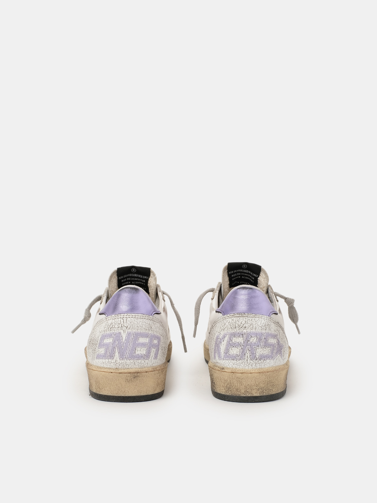 Golden Goose - Ball Star sneakers with purple glitter   in