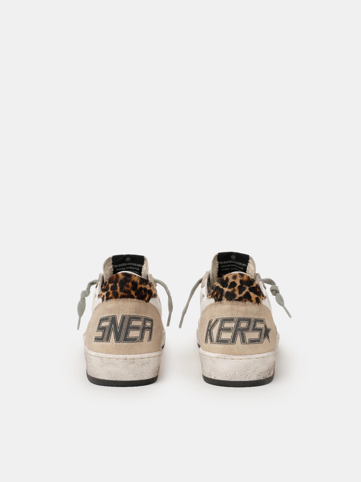 Golden Goose - Ball Star sneakers with leopard-print heel tab in