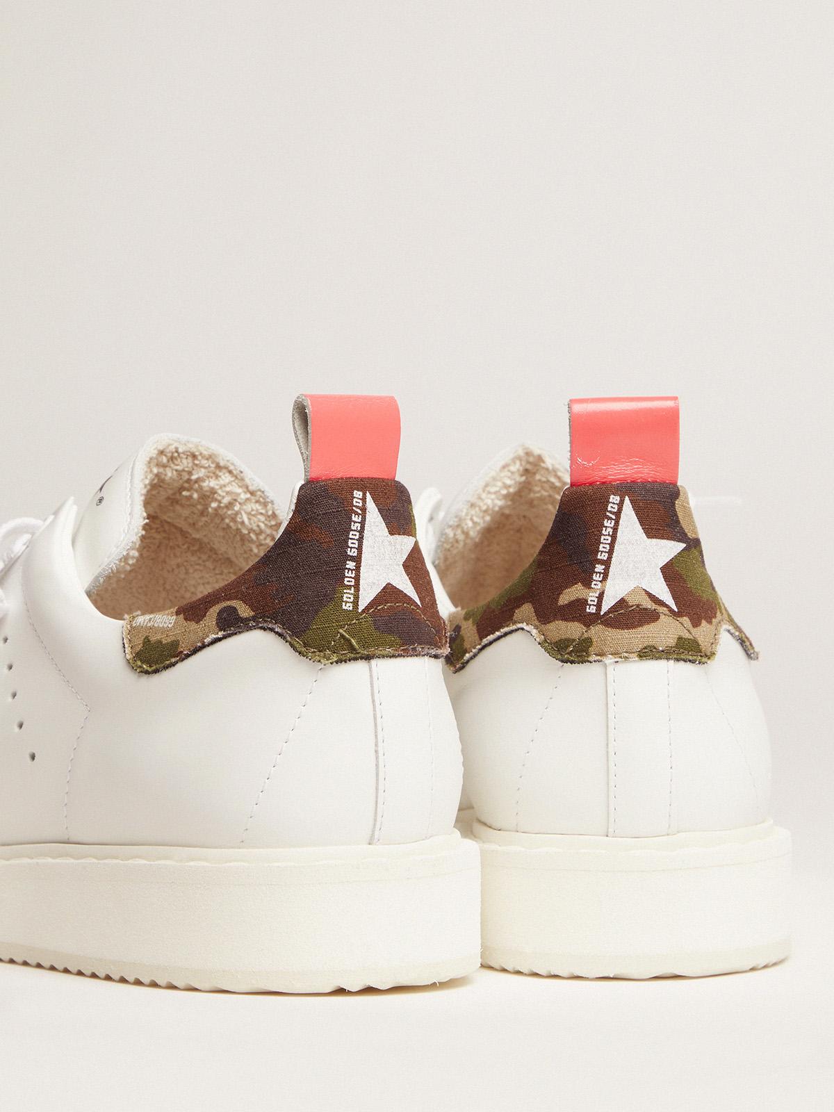 Golden Goose - Women's Starter sneakers with camouflage heel tab in
