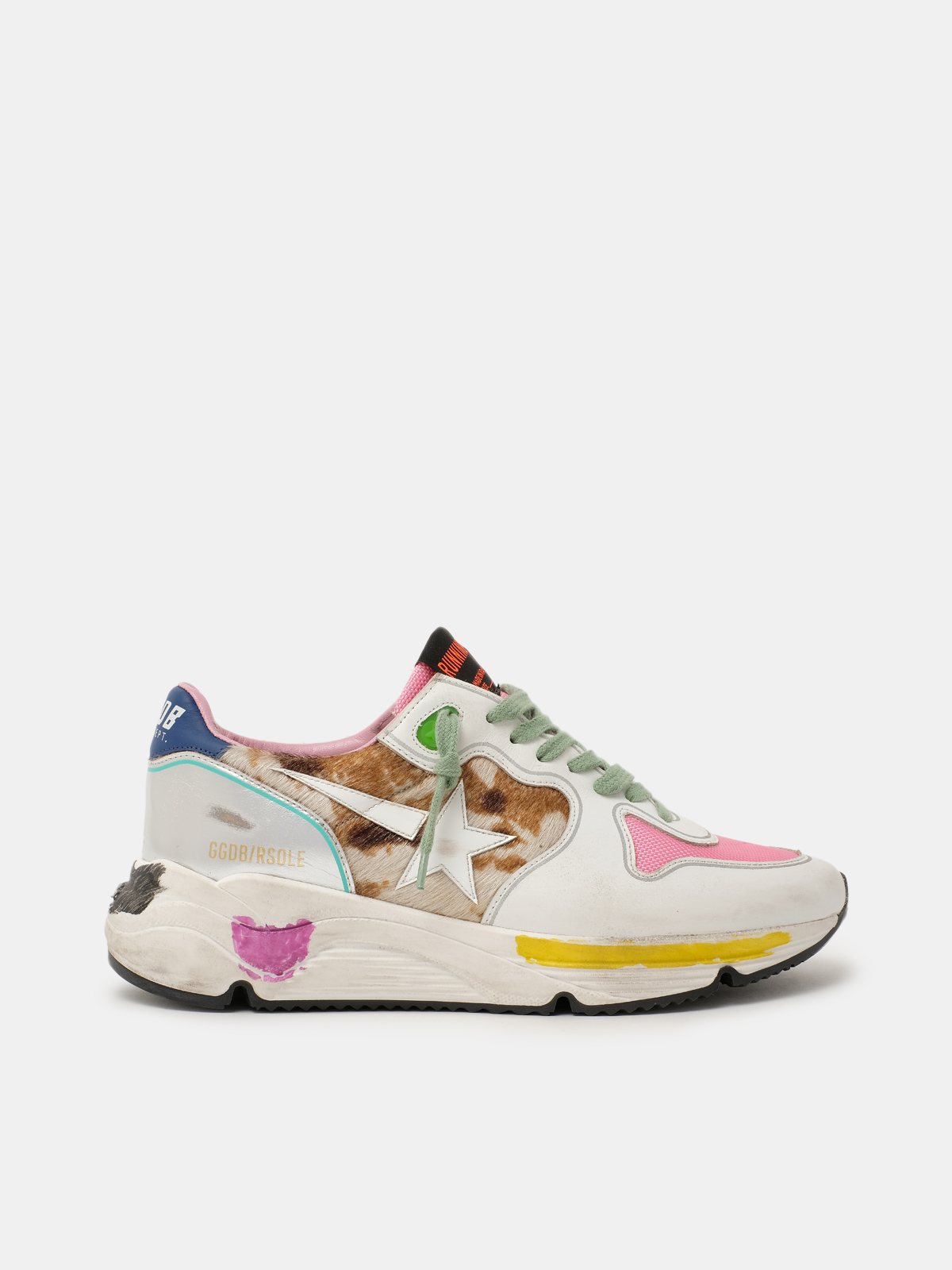 Golden Goose - Running Sole sneakers with animal-print insert in