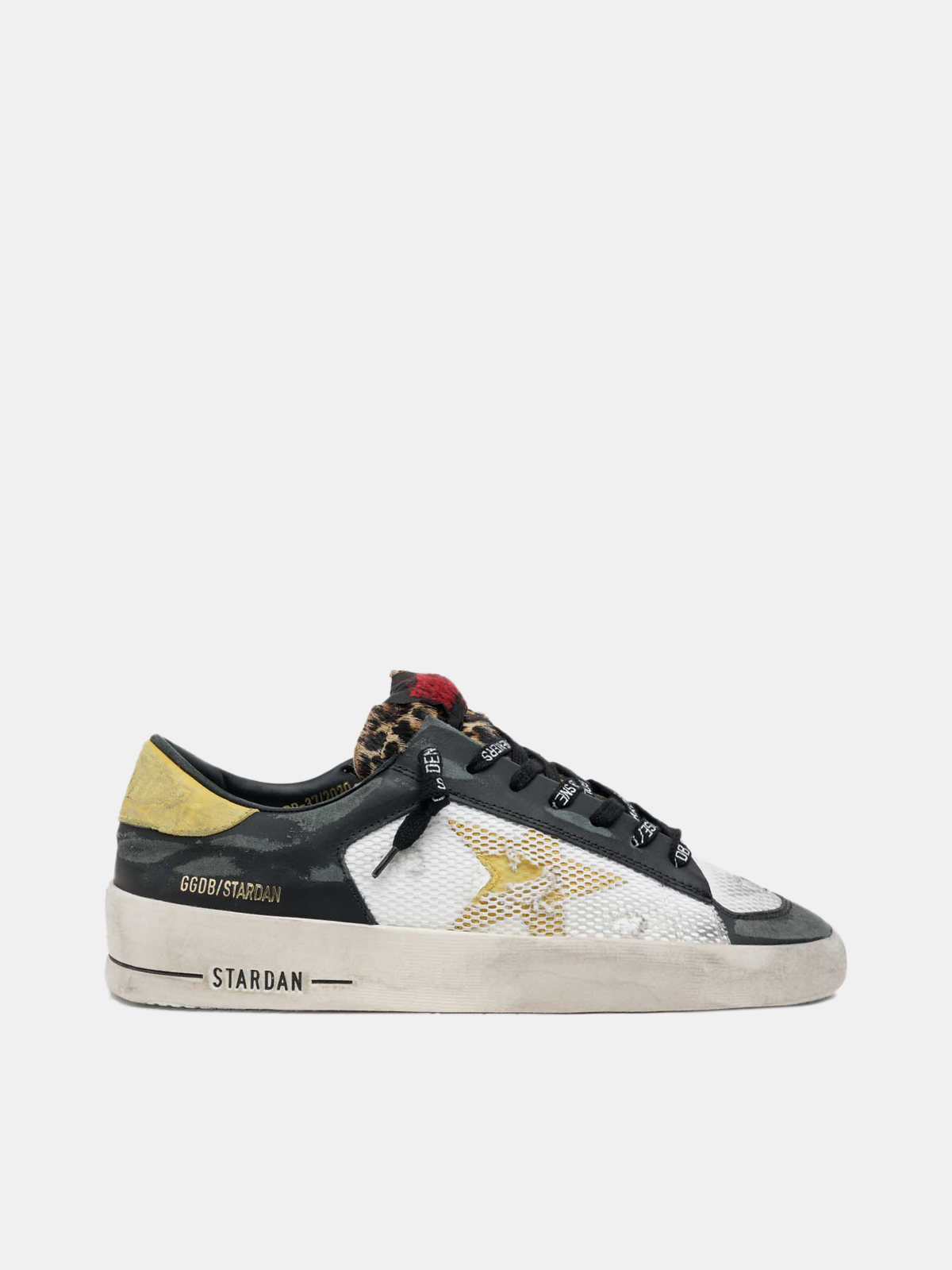 Golden Goose - Stardan sneakers with leopard-print pony skin tongue in