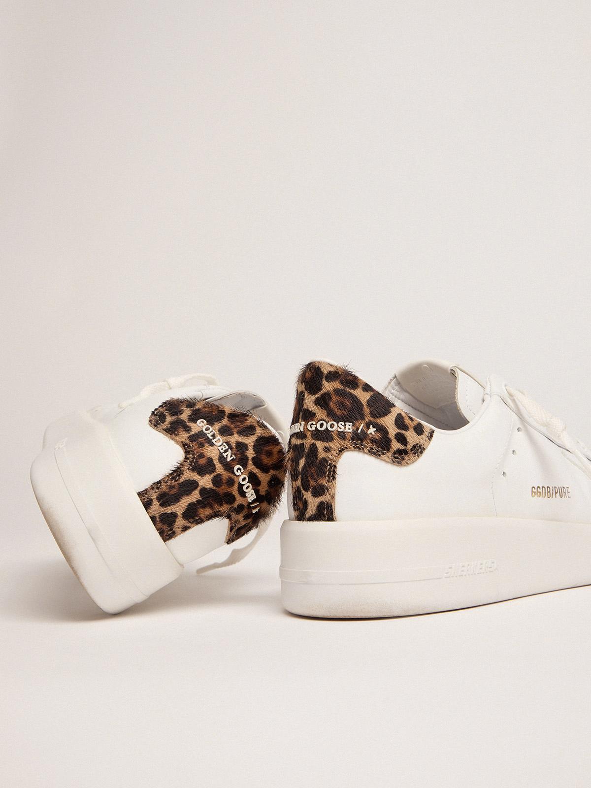 Golden Goose - Women's PURESTAR sneakers with leopard-print heel tab in