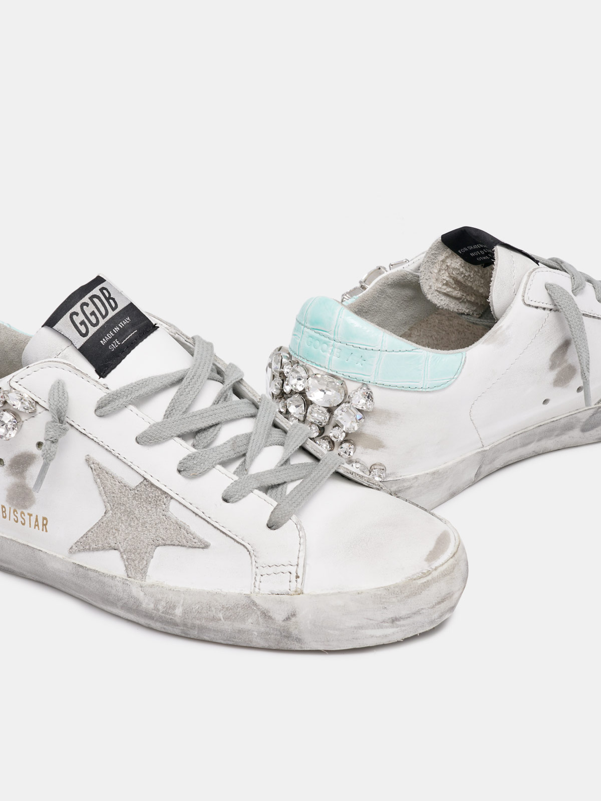 Golden Goose - Super-Star sneakers with crystals on the back   in