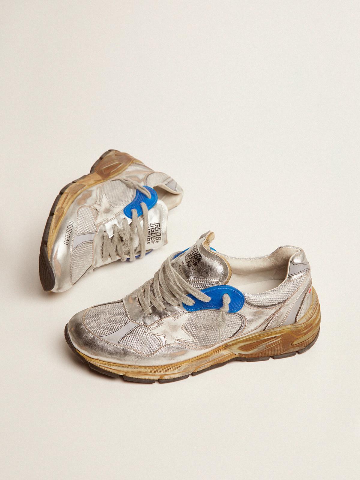Golden Goose - Sneakers Dad-Star donna argentate in