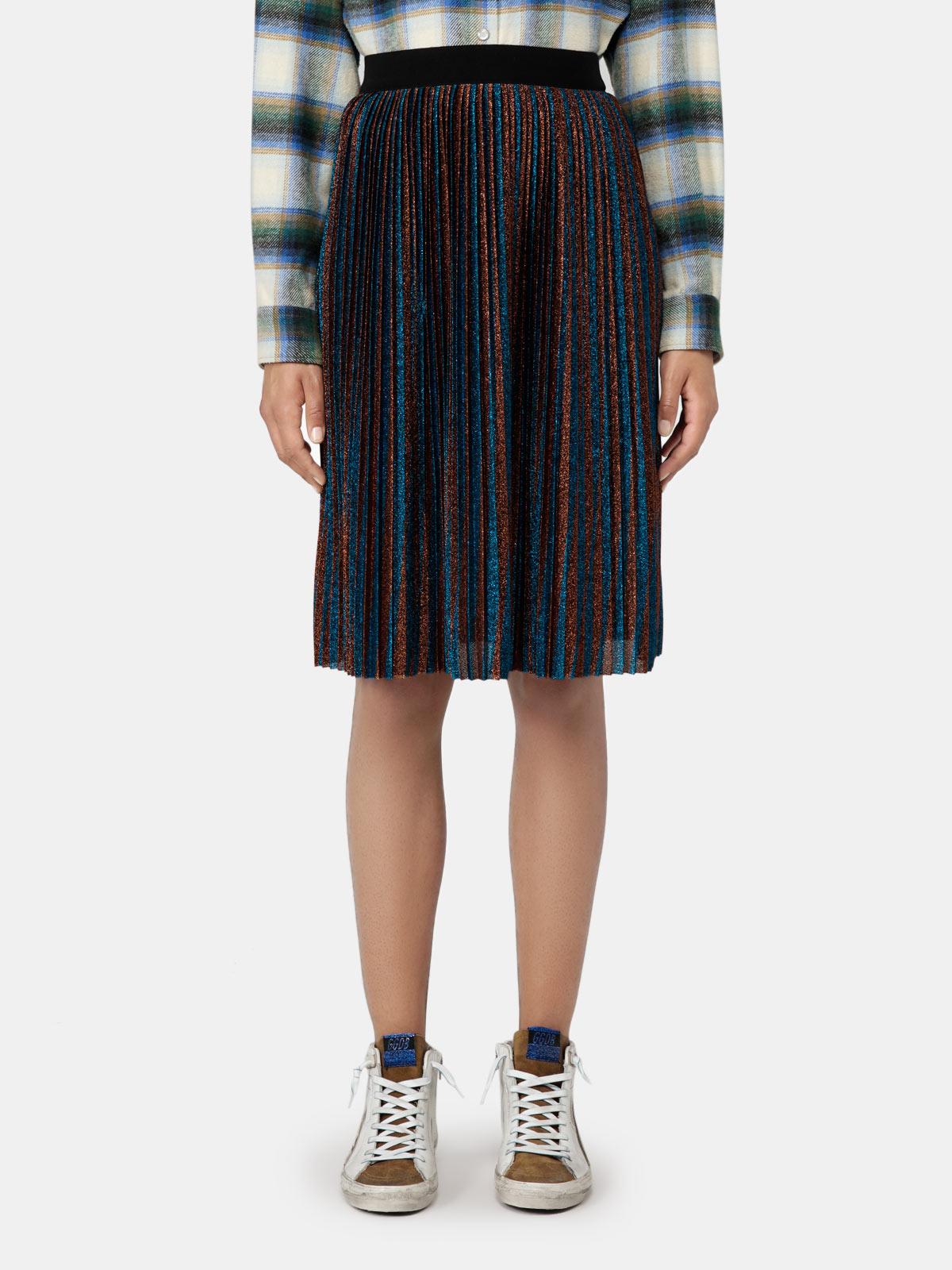 Golden Goose - Pleated Amber skirt in lurex in