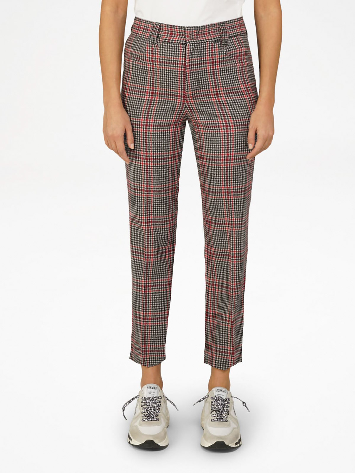 Golden Goose - Algisa trousers with houndstooth tartan pattern in