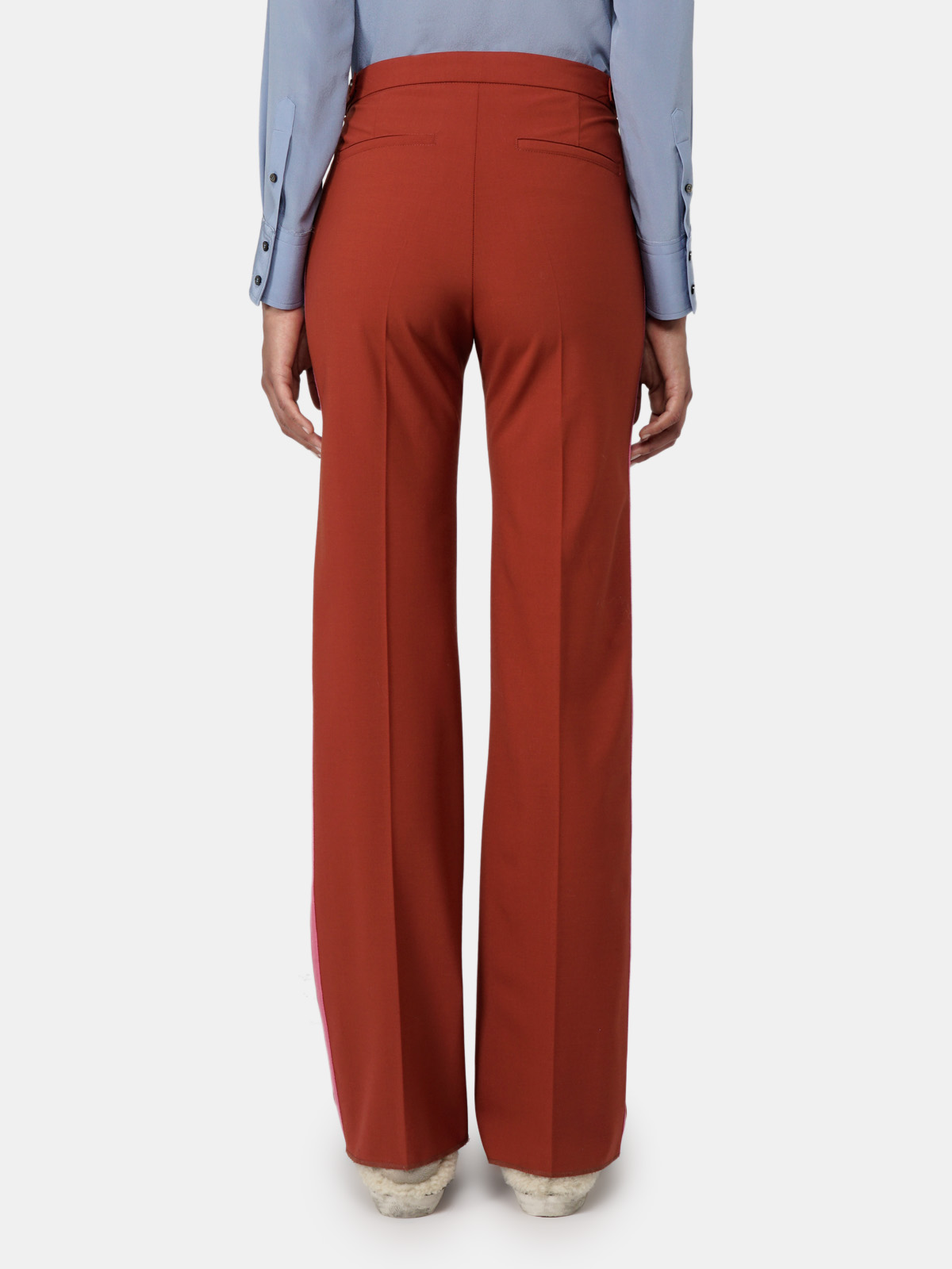 Golden Goose - Amalia trousers with flared hems and contrast side bands in