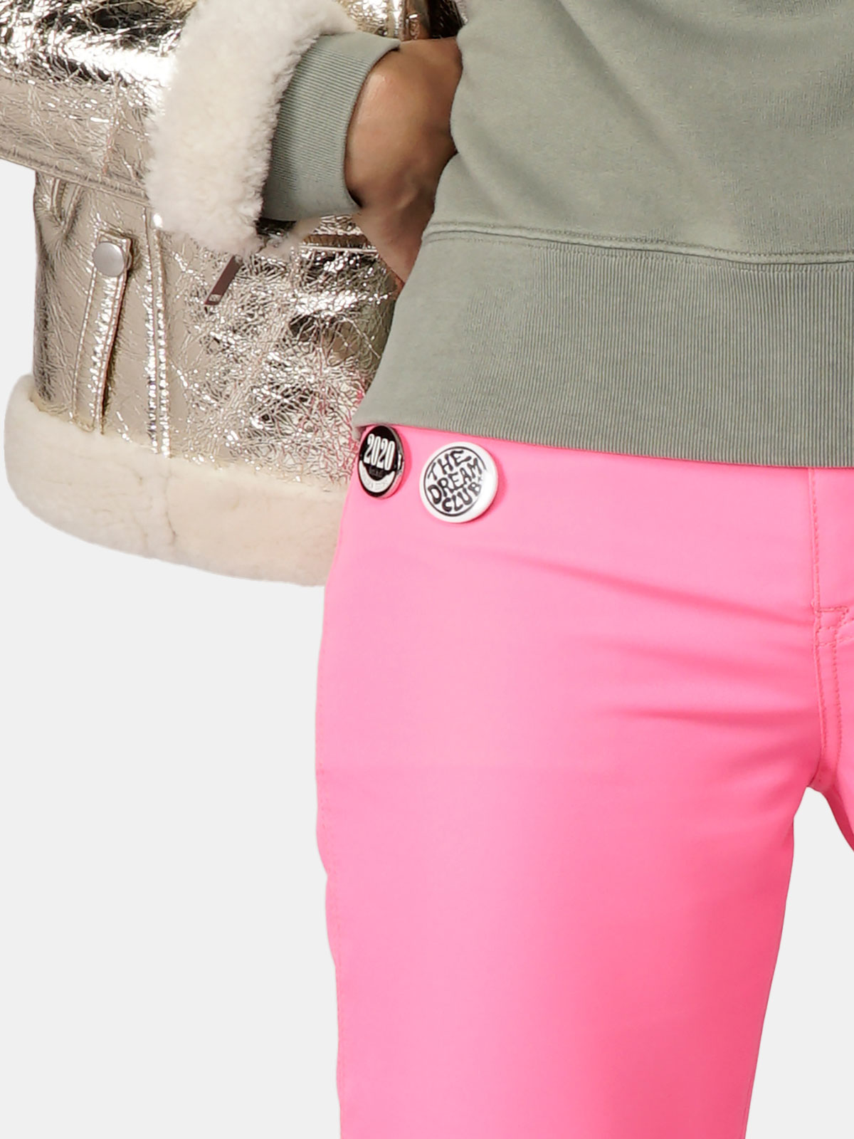 Golden Goose - Amy trousers in shocking pink with pins in