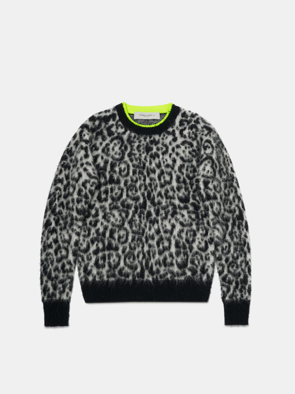 Golden Goose - Andreina pullover with leopard pattern   in