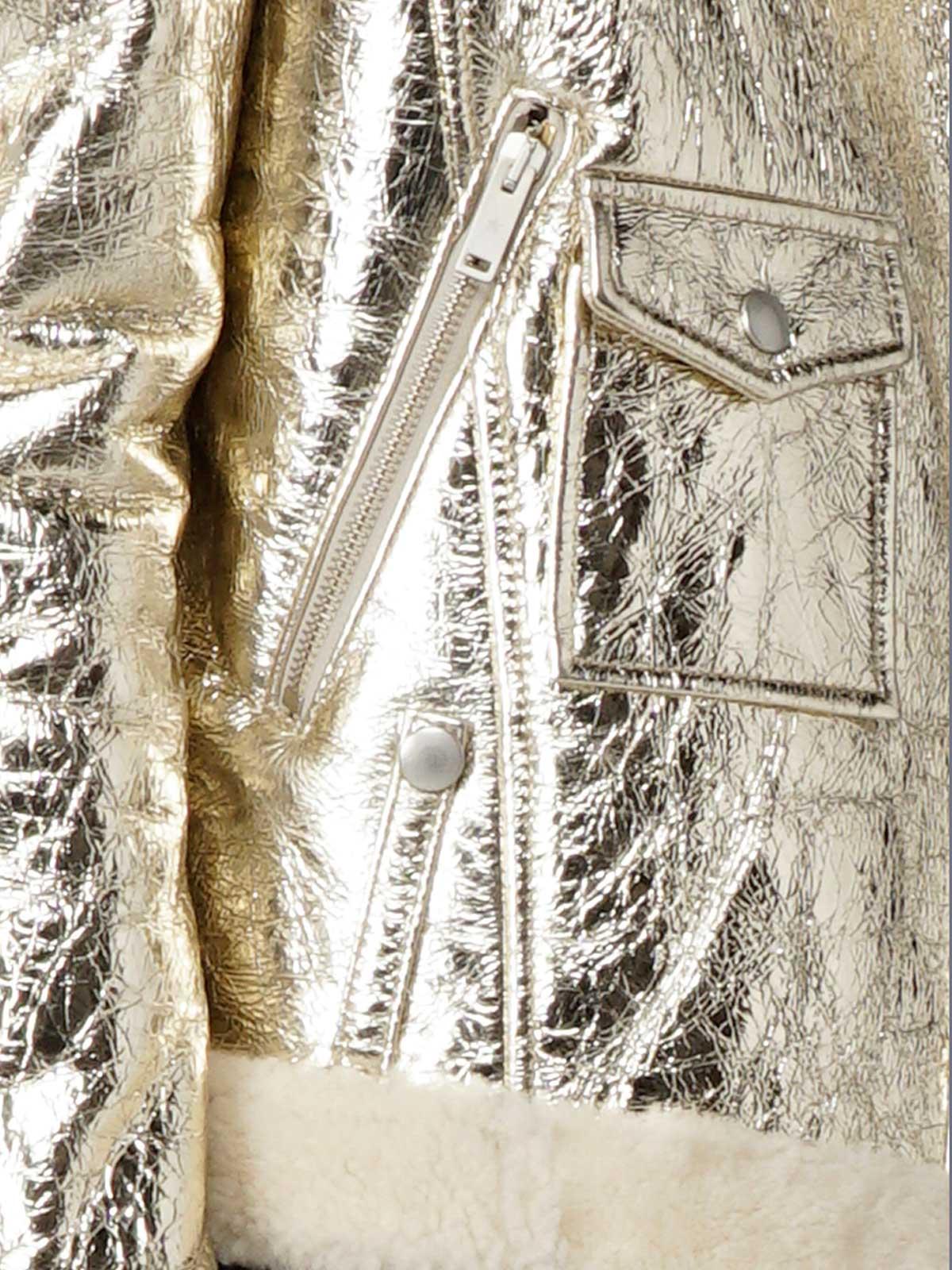 Golden Goose - Montone Assia in pelle laminata con interno in shearling in